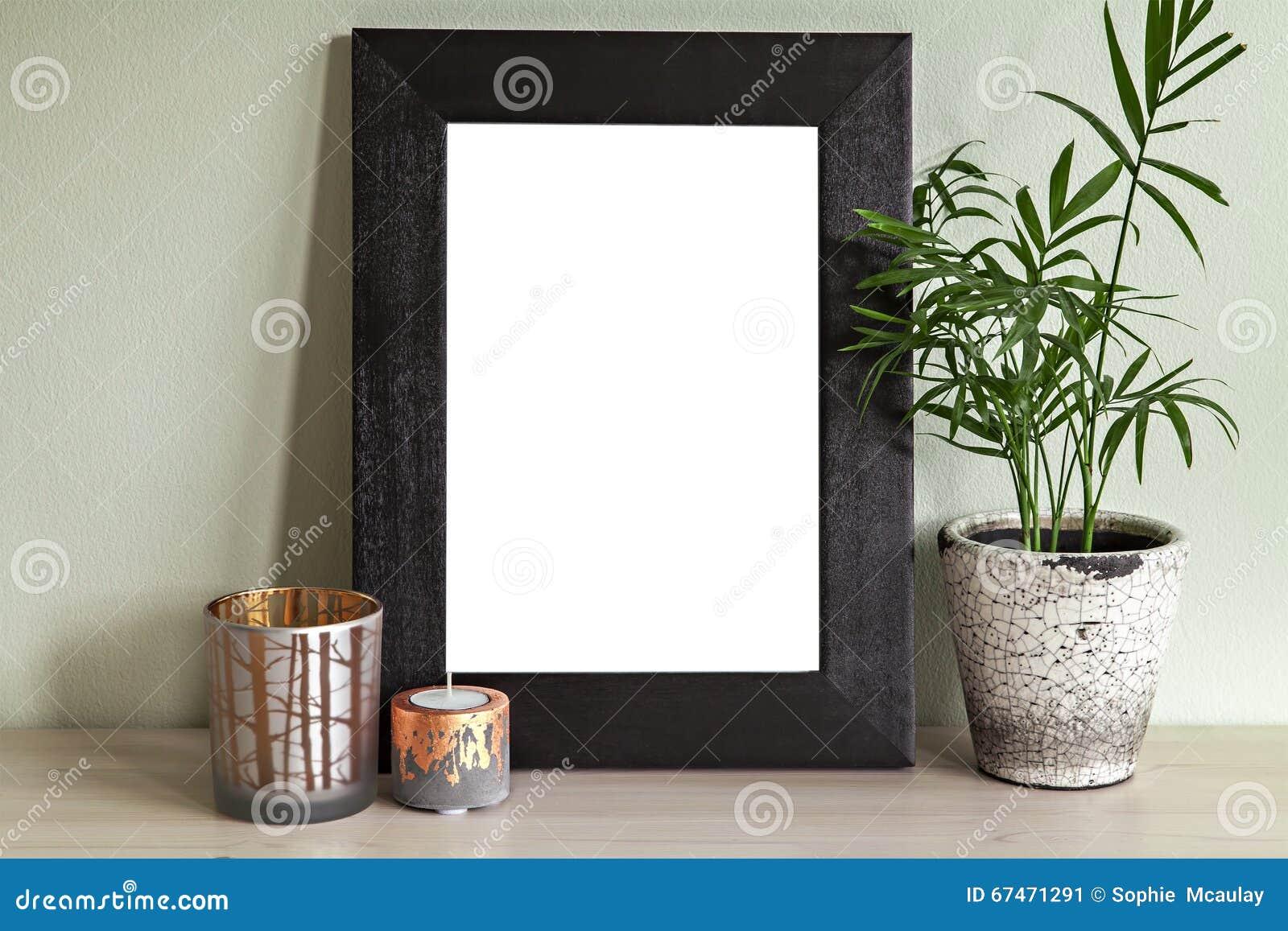 Standing Frame Mock Up Scene Stock Image - Image of lifestyle, desk ...