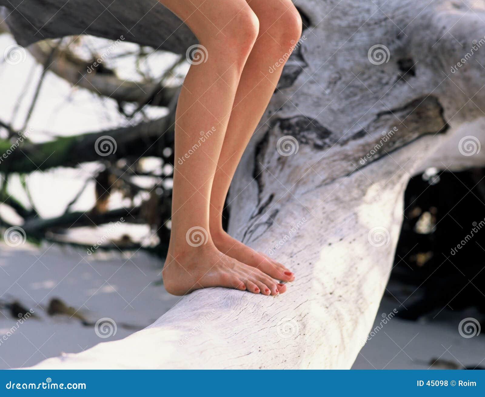 Standing on Log