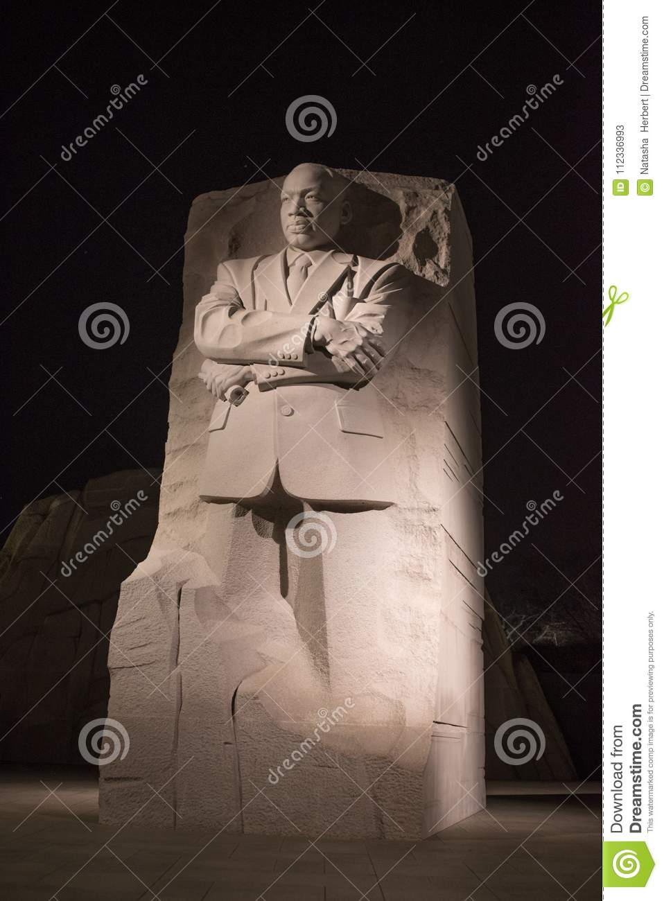 Martin Luther King Jr Monument Editorial Stock Photo Image Of