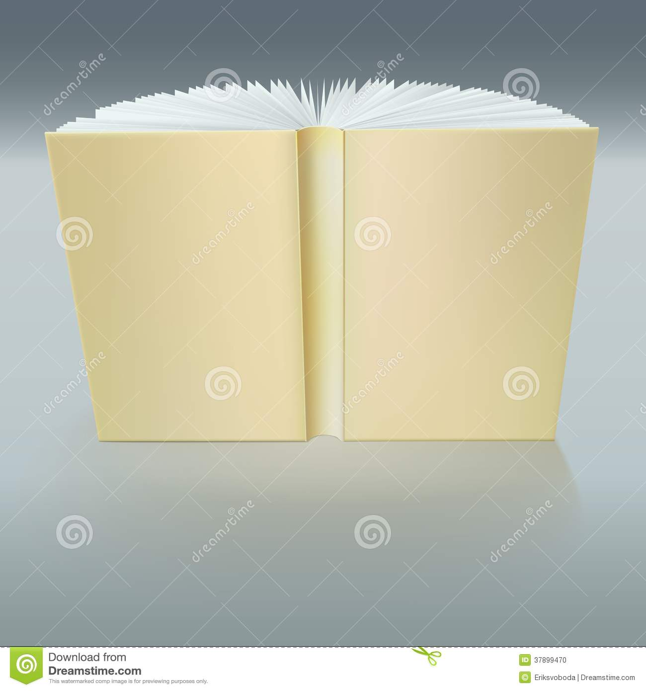 standing open book with pages stock photo