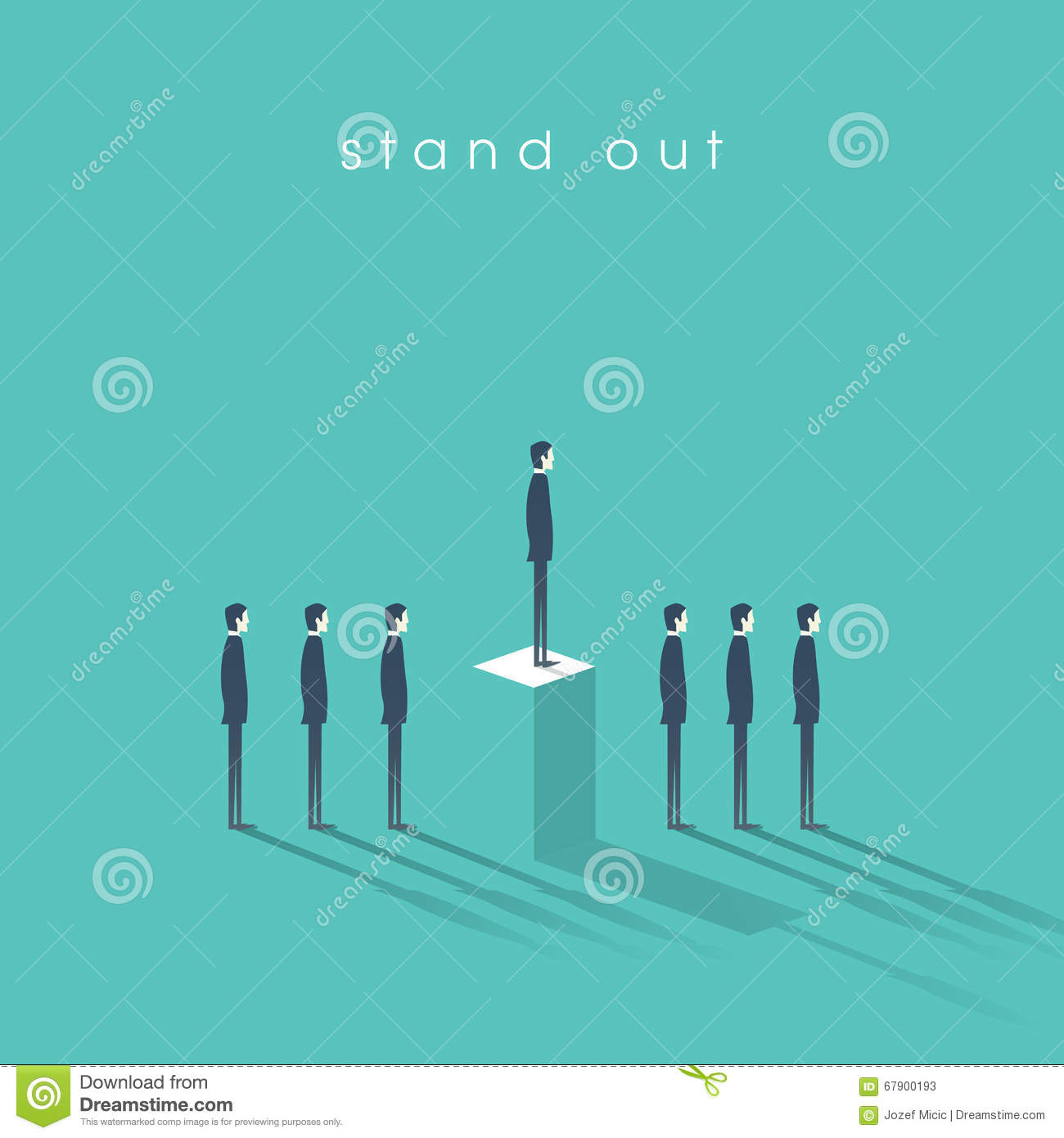 standing out from the crowd business concept businessmen in standing out from the crowd business concept businessmen in line talent or special skills
