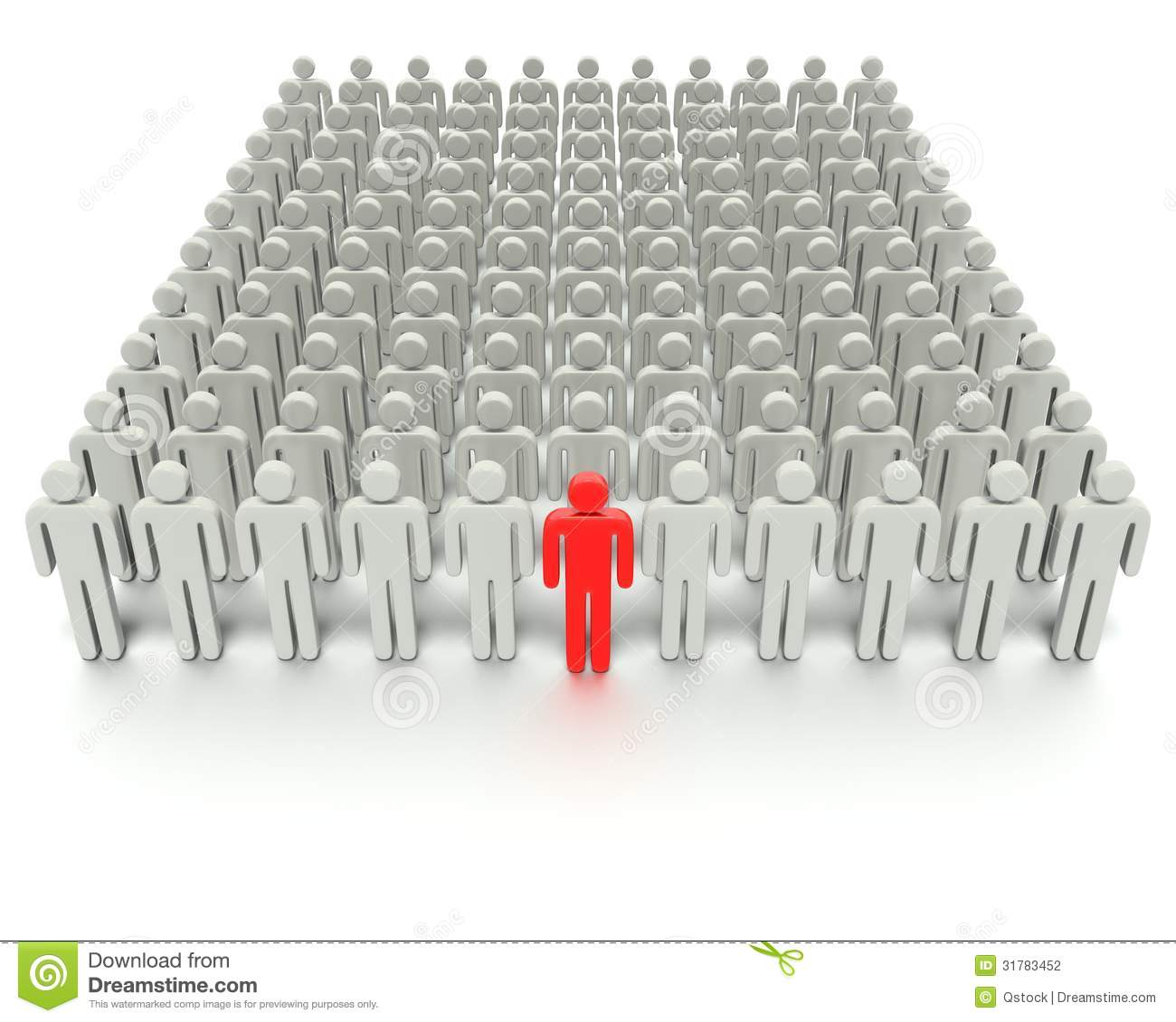 One Person Standing Out In A Crowd Standing Out From The ...