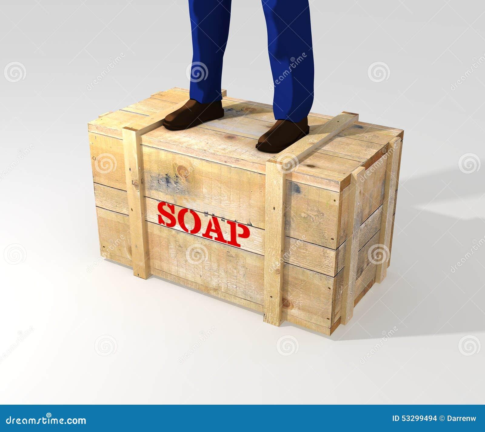 Standing On Soapbox Stock Illustration - Image: 53299494
