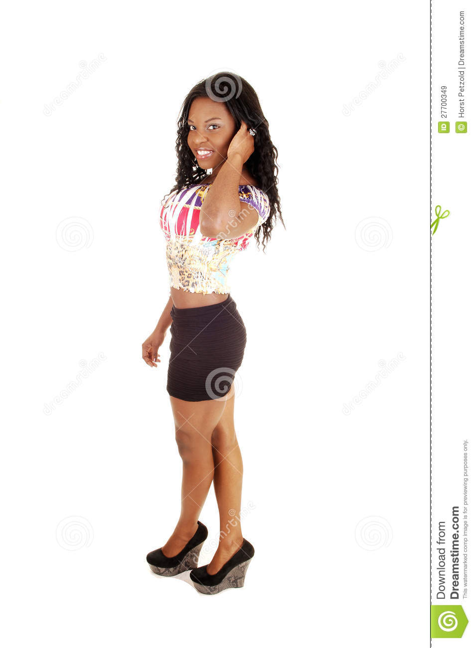 Standing young black girl royalty free stock images image 27700349