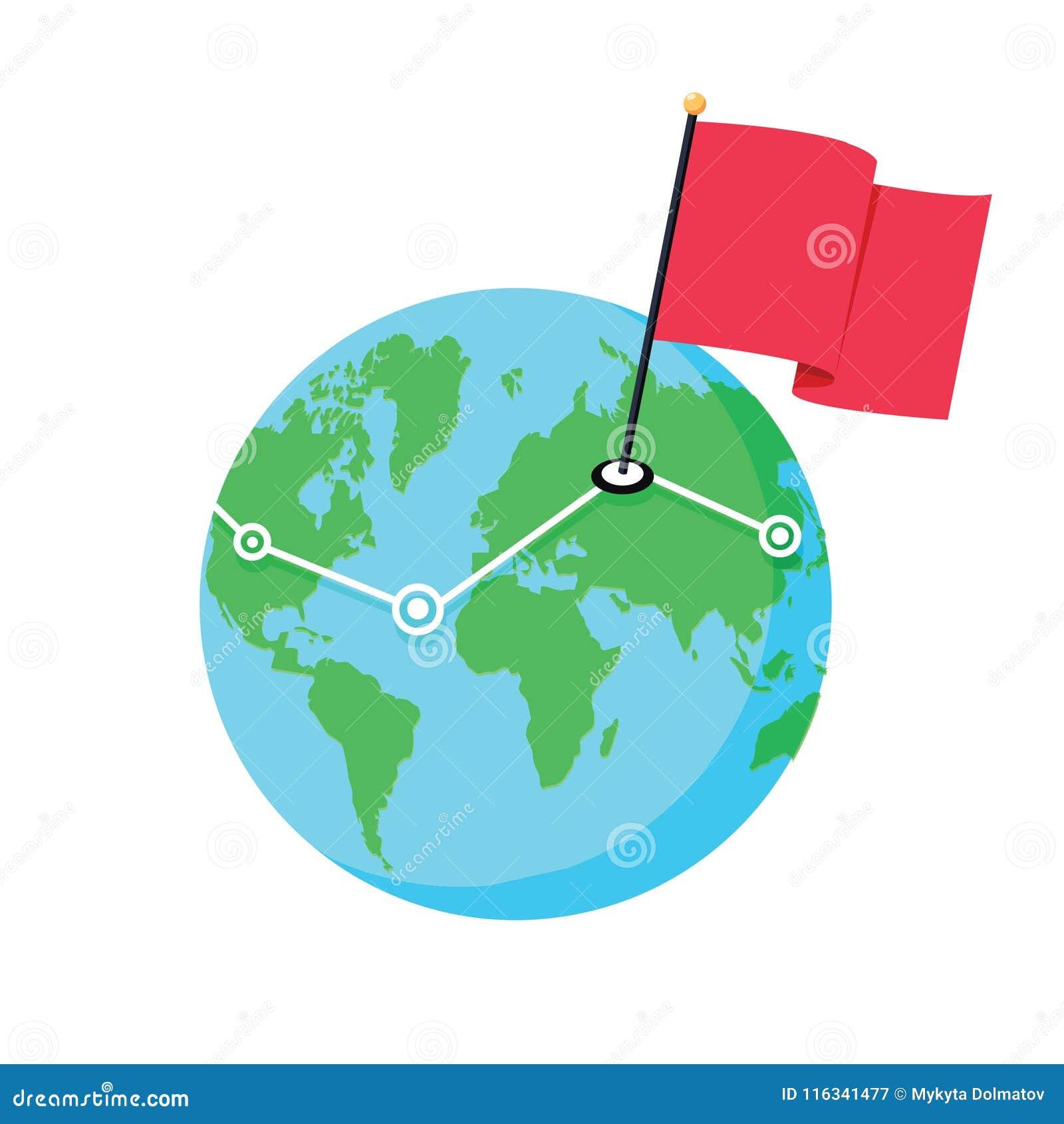 Karte Erde.Standorte Auf Der Karte Der Erde Geo Positionen Netz Globale