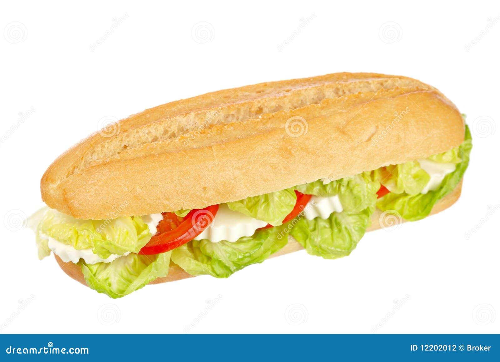 Stangenbrotsandwich