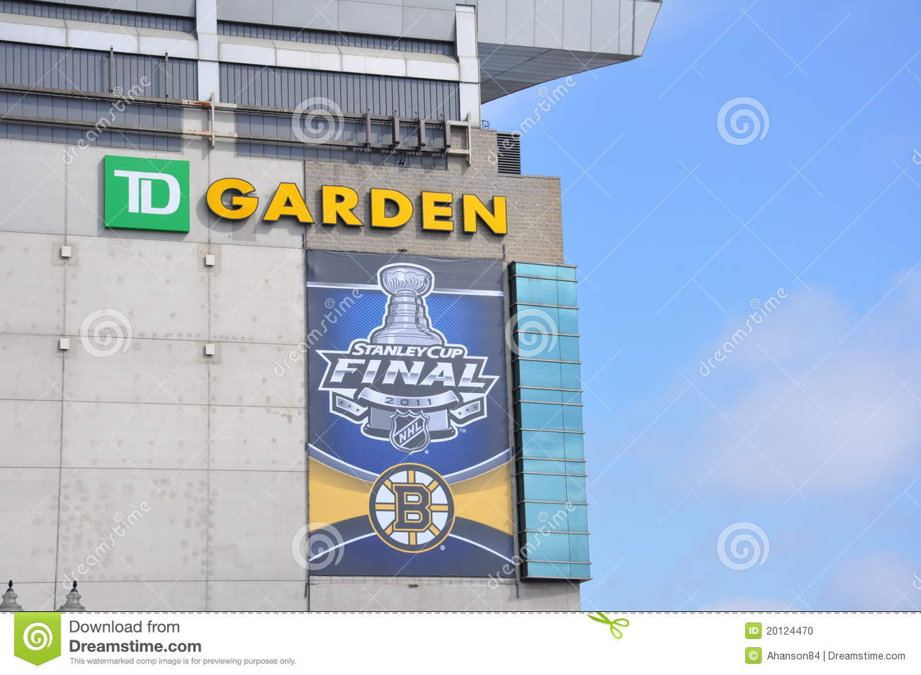 Stanley Cup Finals On The Td Garden Editorial Image Image 20124470