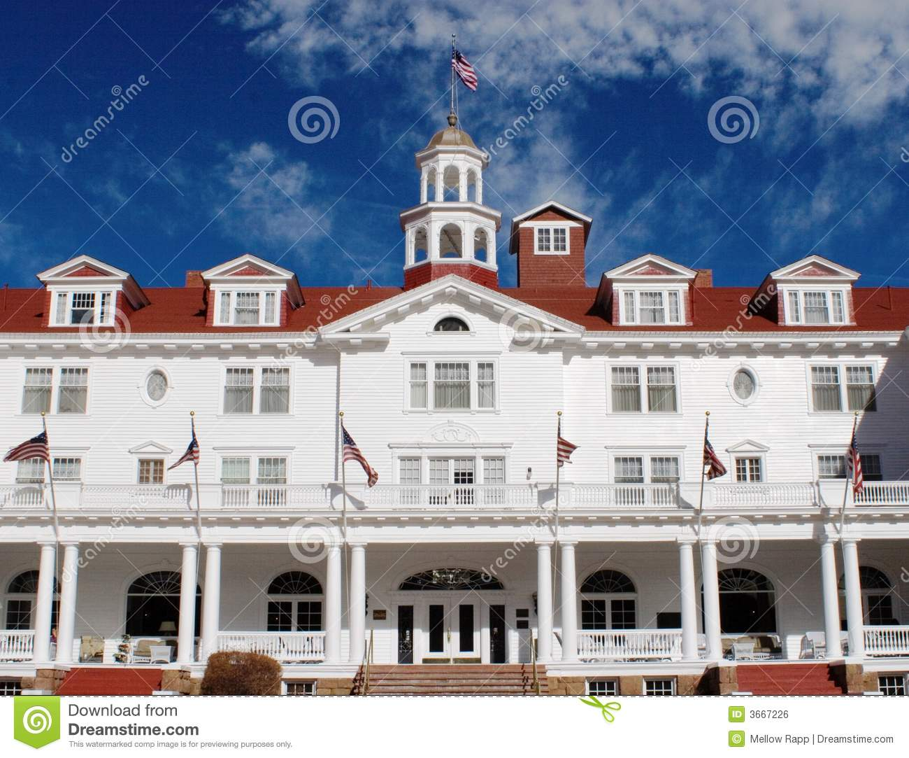 Stanley hotel front royalty free stock image image 3667226 for Stanley home design software free download