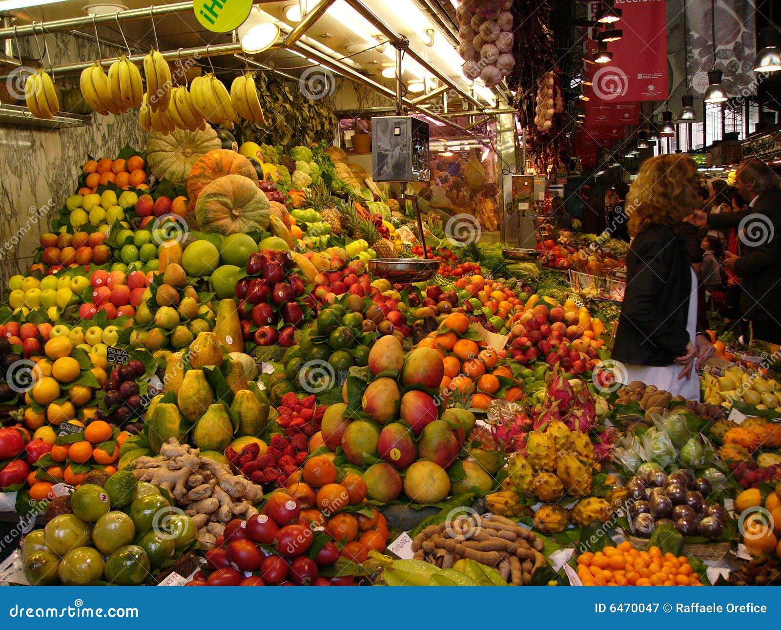 Stanowisko owoców, warzyw