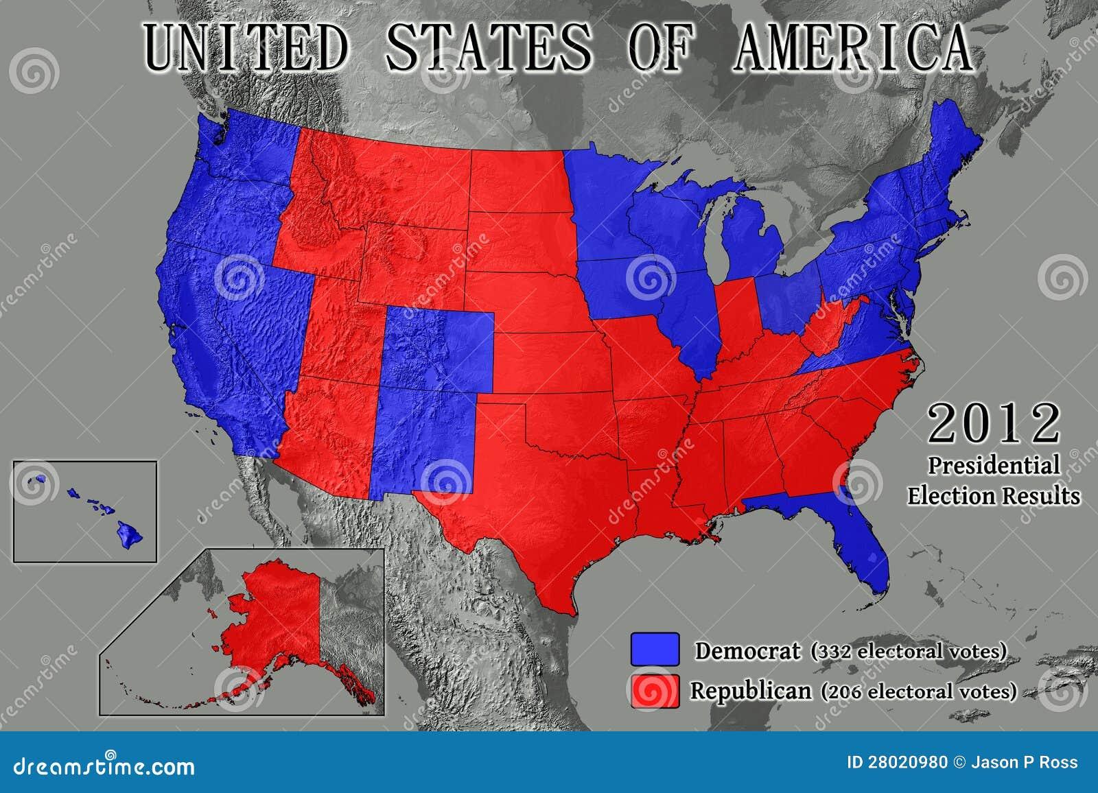 Stany Zjednoczone 2012 wynika wyborów