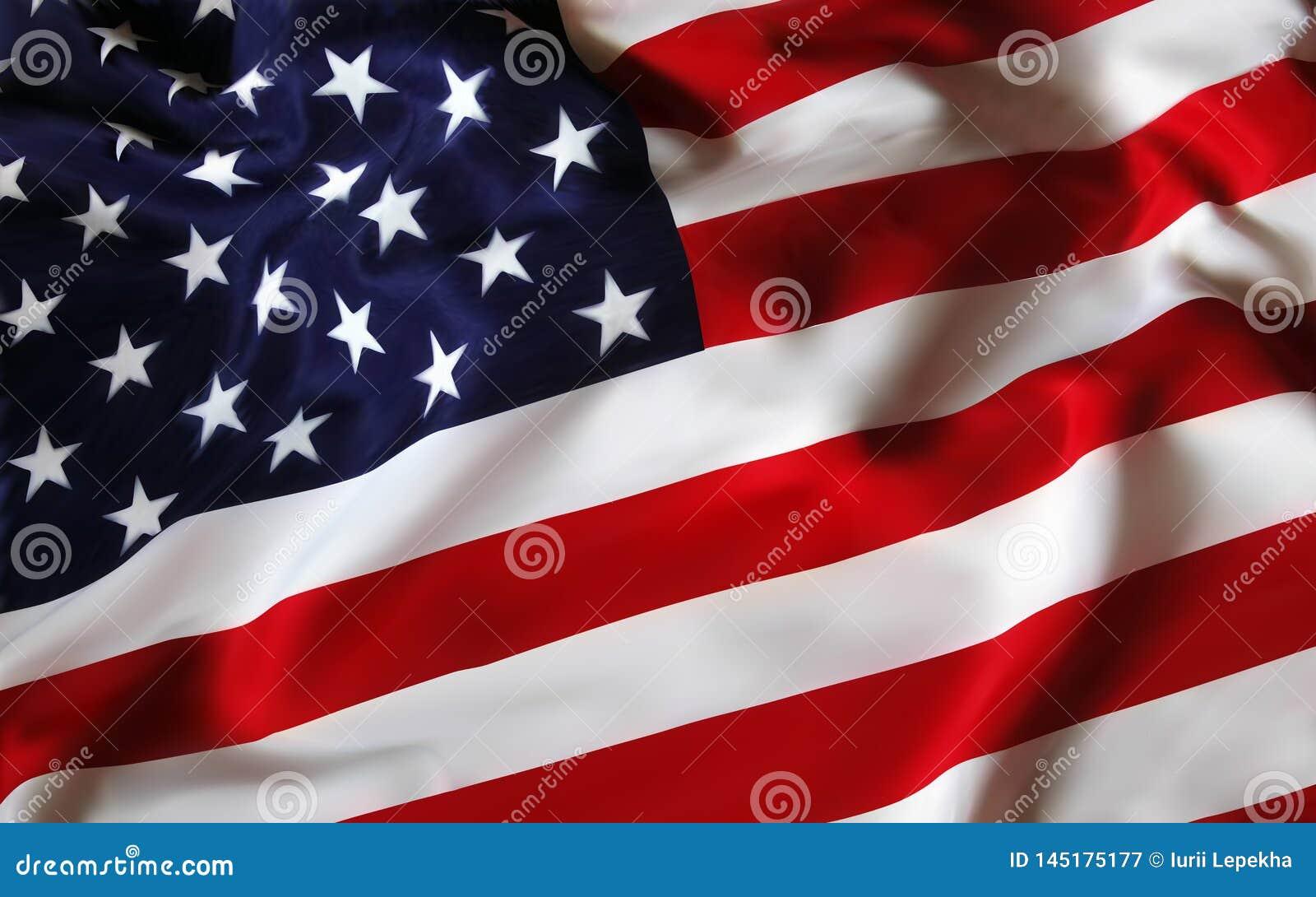 Stany Zjednoczone Ameryka usa flaga dla wakacyjnego 4th Lipiec Od?wi?tno?? dzie? niepodleg?o?ci EPS10 wektorowa ilustracja ()- We