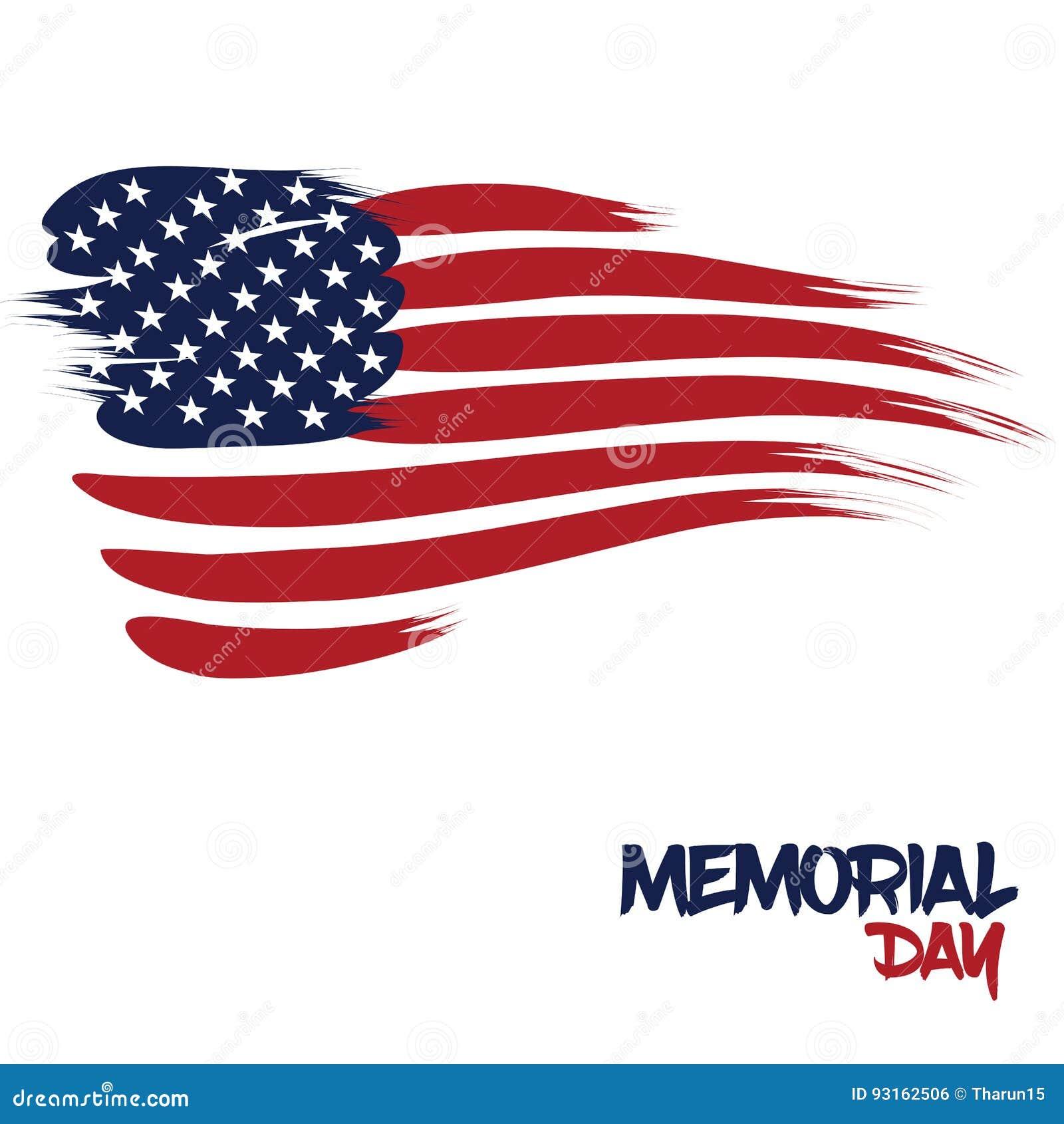 Stany Zjednoczone flaga projektująca z muśnięć uderzeniami dla dnia pamięci