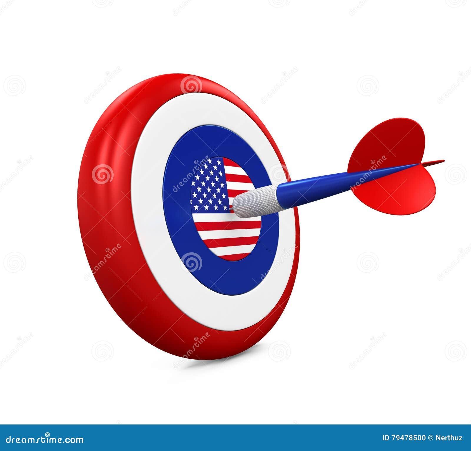 Stany Zjednoczone flaga w strzałkach