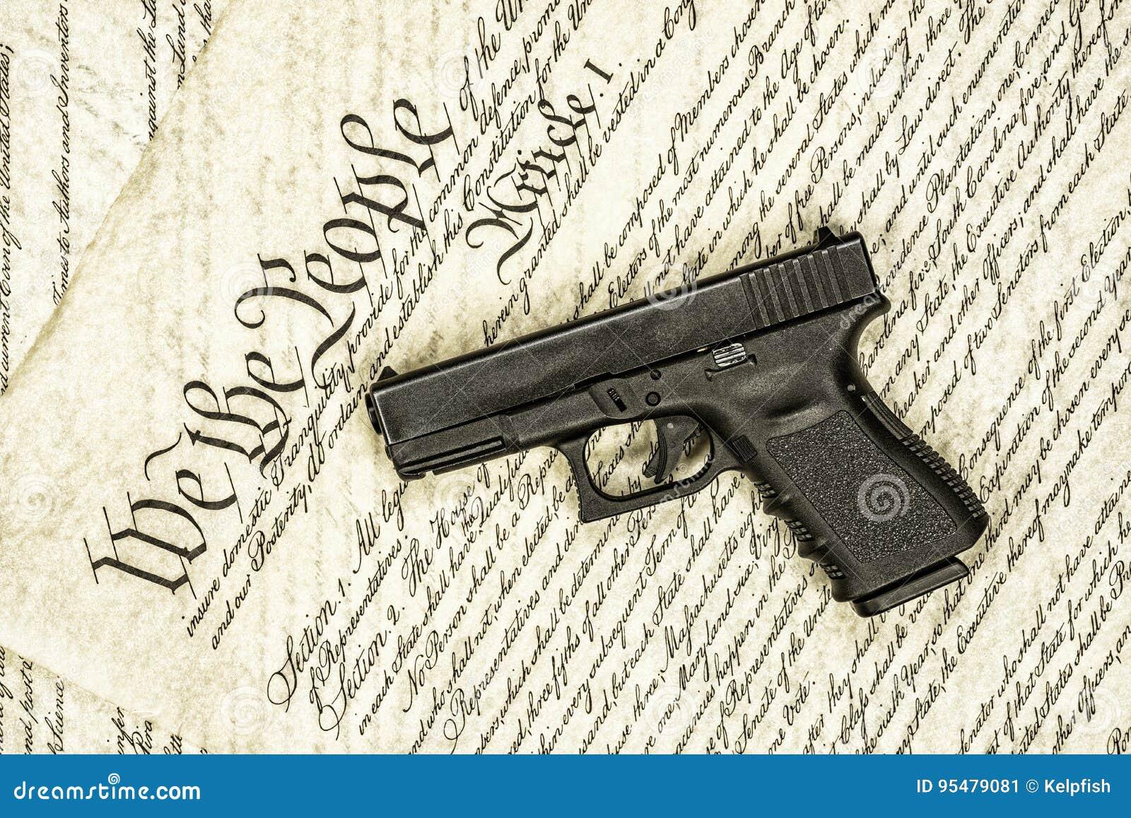Stany Zjednoczone pistoletu i konstytuci dobra