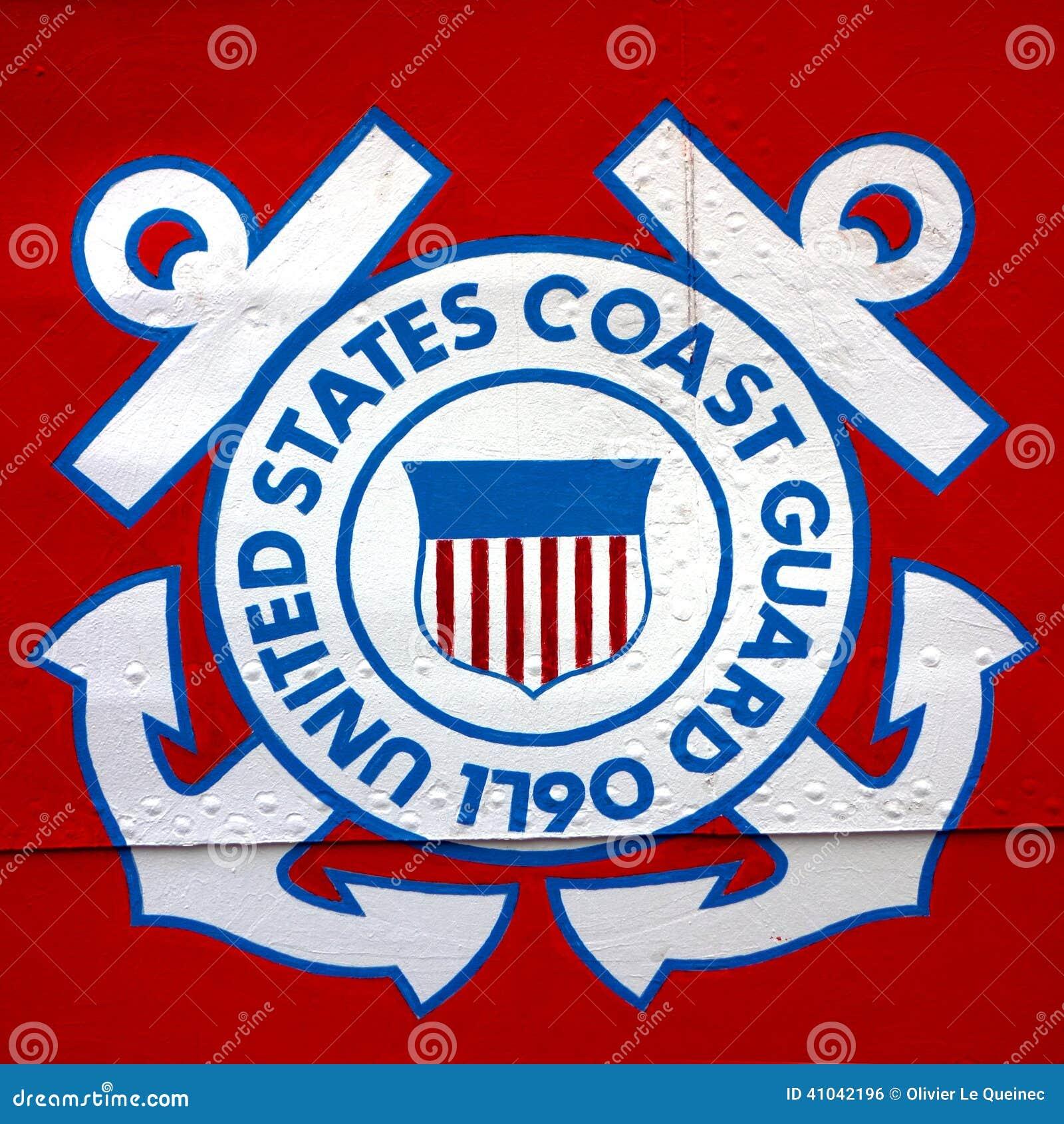 Stany Zjednoczone straży przybrzeżnej osłony emblemat na statku