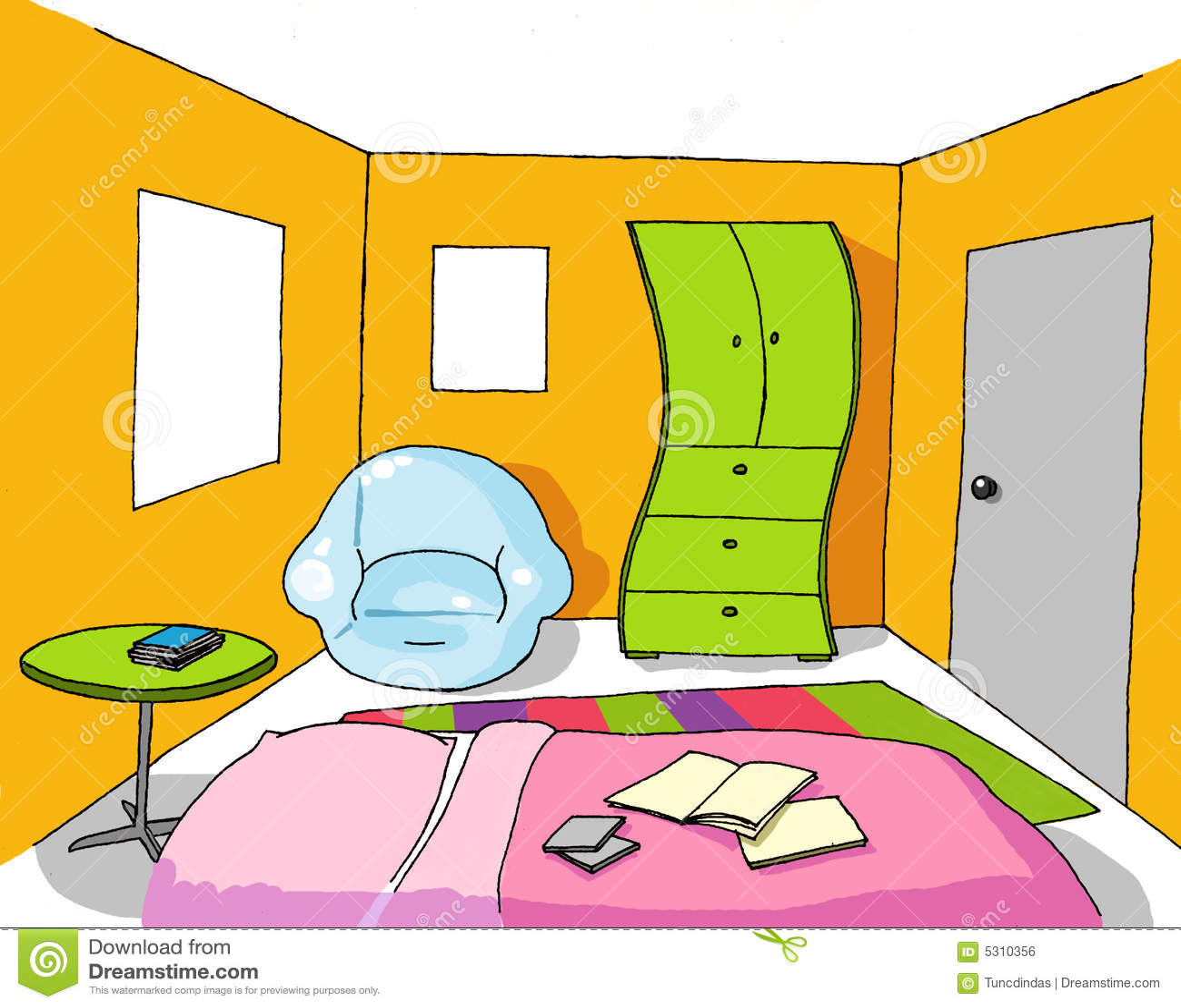 Download Stanza Adolescente Della Priorità Bassa 07 Illustrazione Vettoriale - Illustrazione di domestico, disegno: 5310356