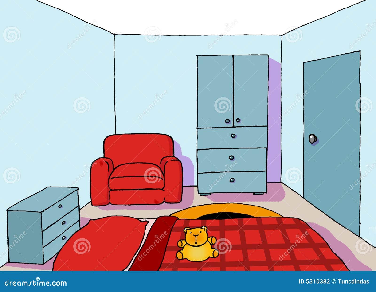 Download Stanza Adolescente Della Priorità Bassa 09 Illustrazione Vettoriale - Illustrazione di interno, telefono: 5310382