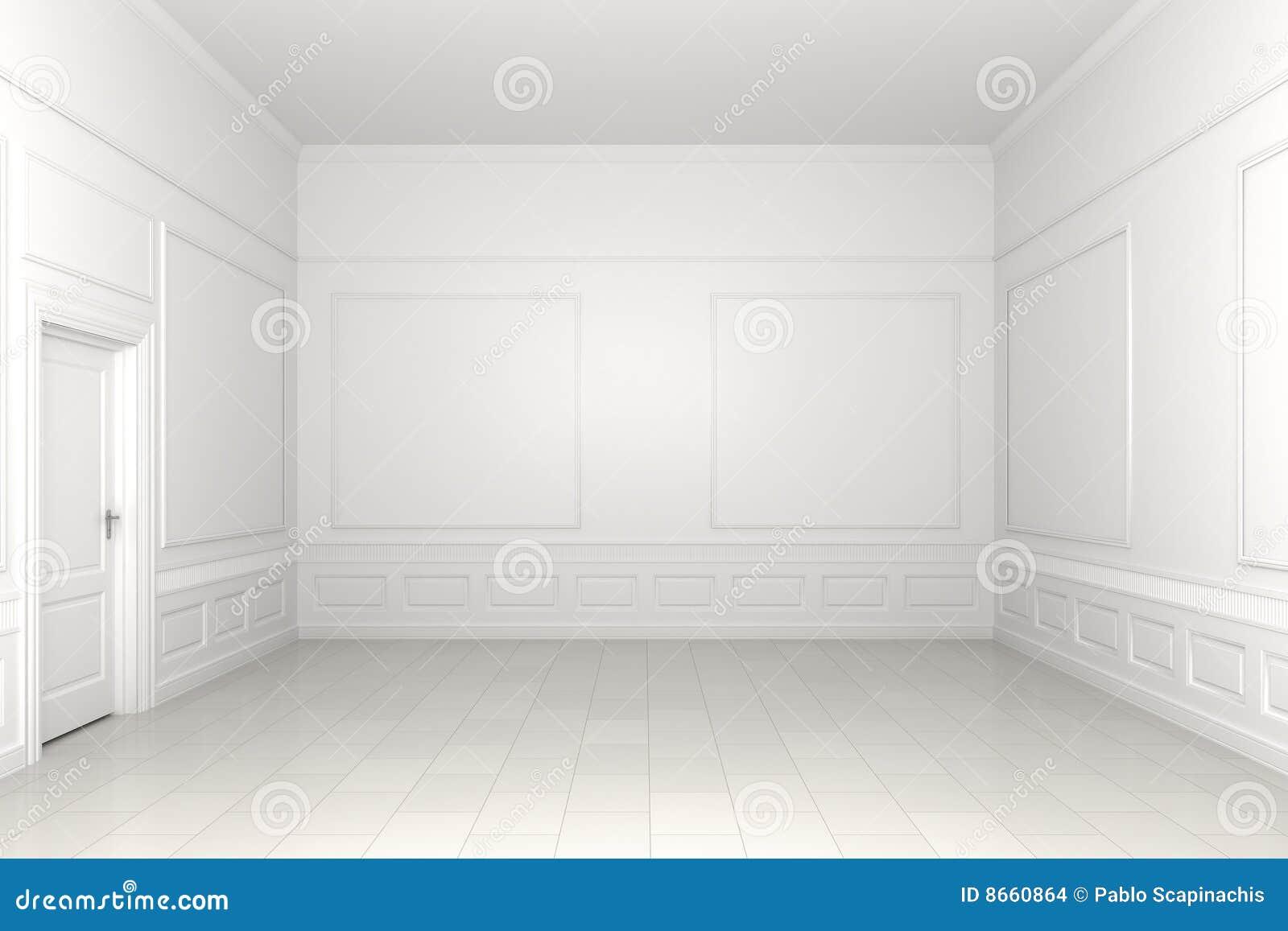 Stanza Bianca Vuota Illustrazione Di Stock Immagine Di