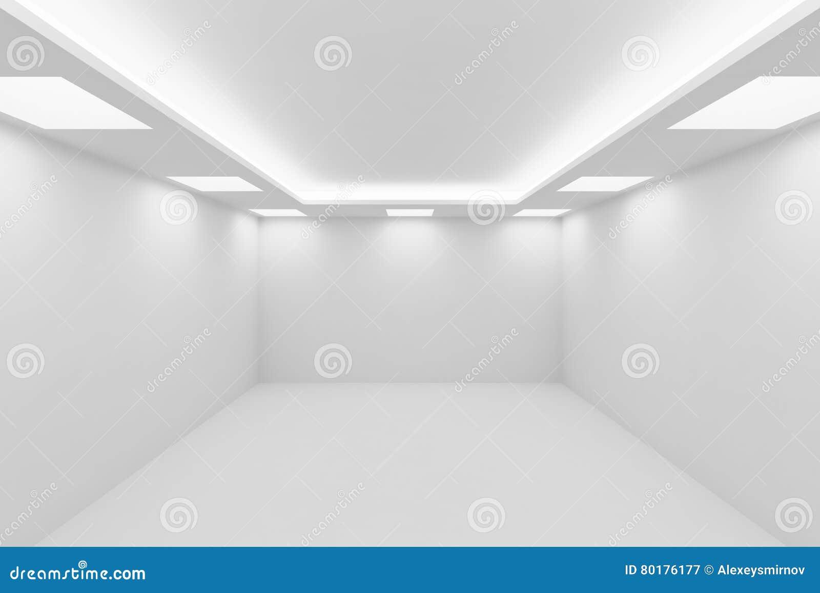 Plafoniere Quadrate Da Parete : Stanza bianca vuota con le plafoniere quadrate illustrazione di