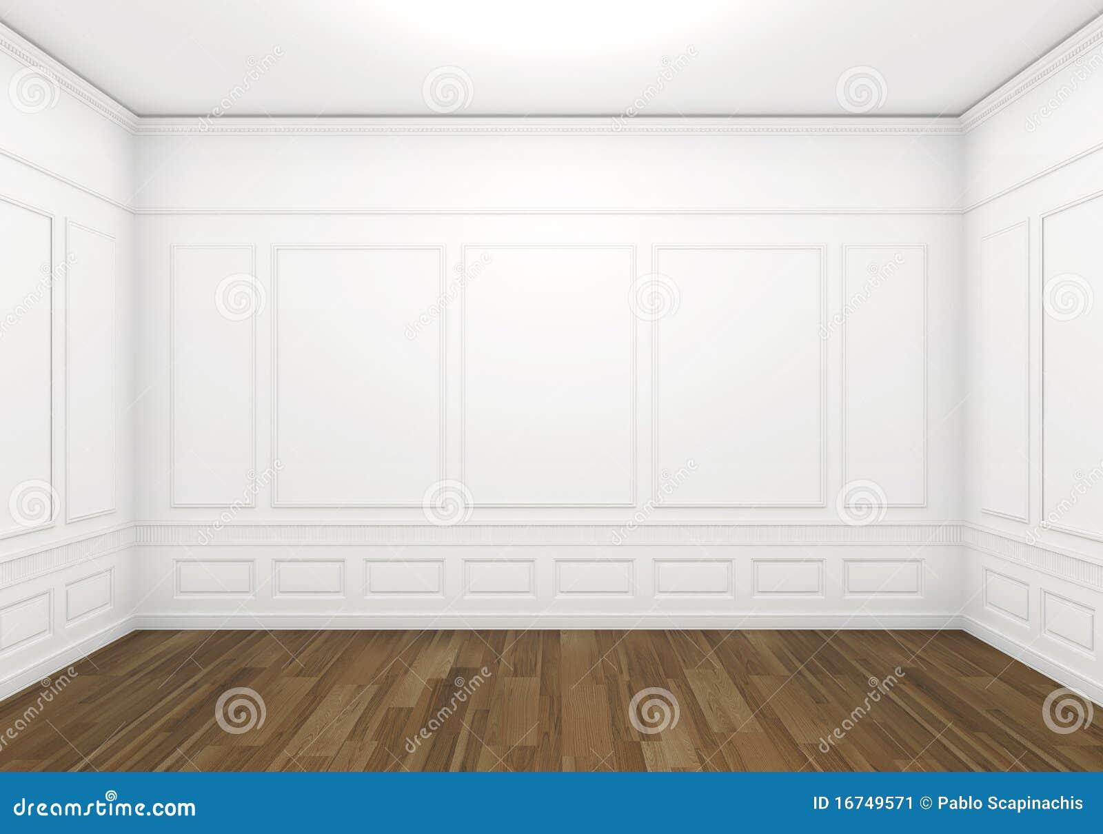 Stanza classica vuota bianca immagine stock immagine for Grande disposizione della stanza