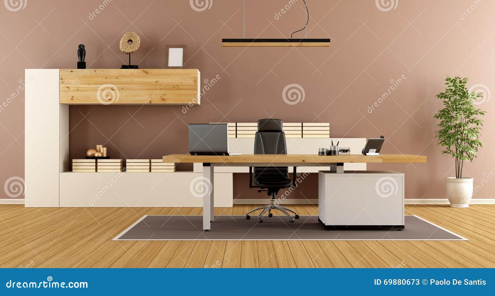 Stanza contemporanea dell 39 ufficio illustrazione di stock for Stanza uso ufficio
