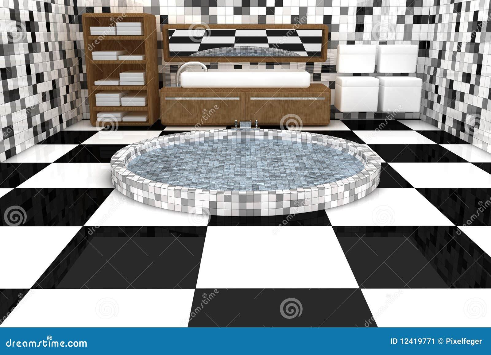 Stanza da bagno 3d illustrazione di stock illustrazione - Stanza da bagno ...