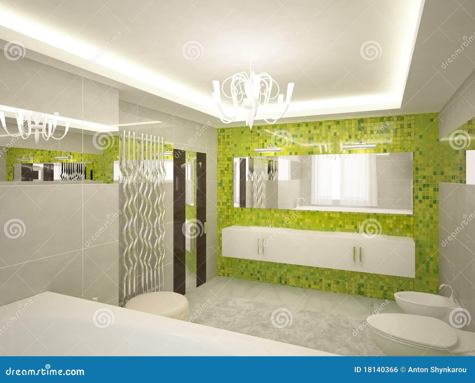 Stanza da bagno 3d illustrazione di stock illustrazione for Stanza da bagno