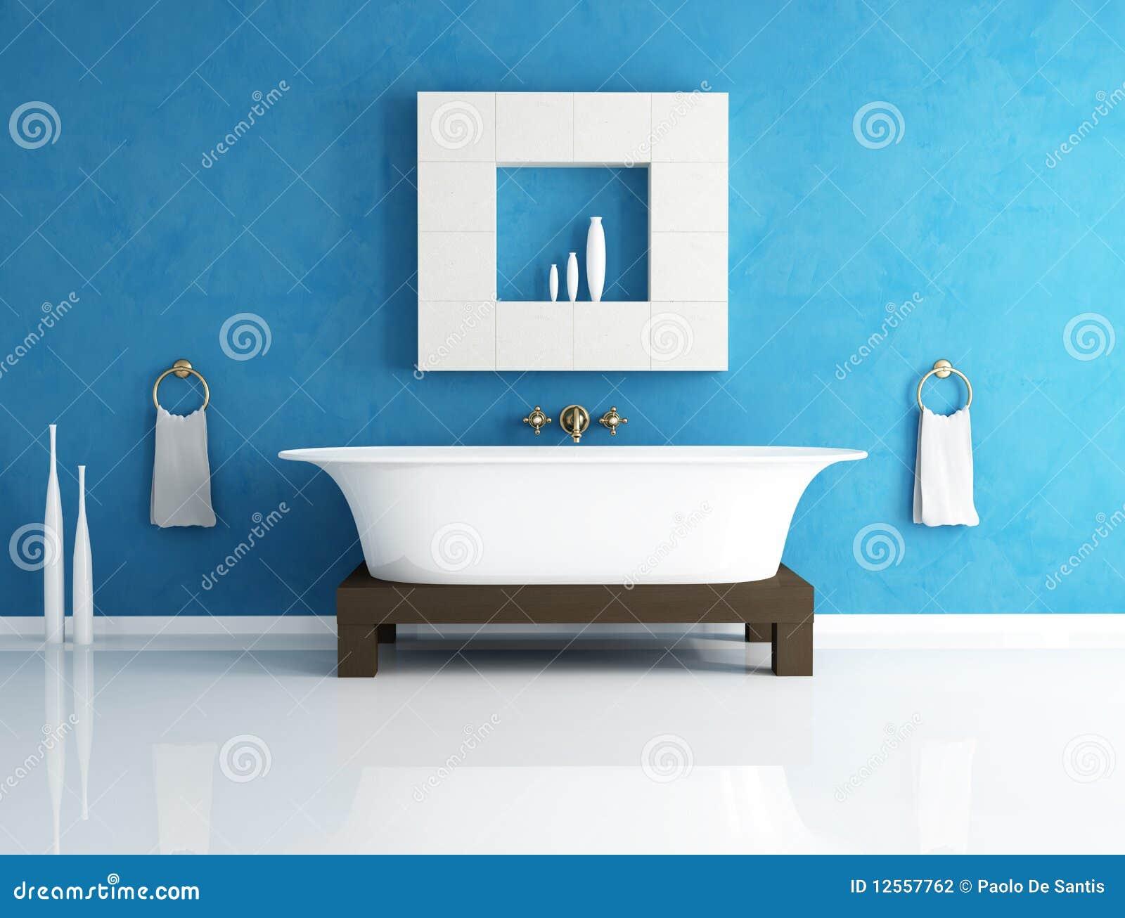 Stanza da bagno blu