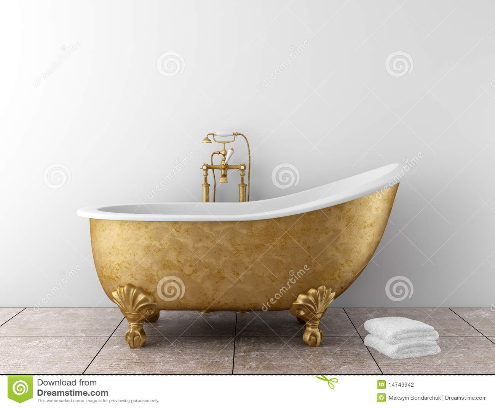 Stanza da bagno classica con la vecchia vasca da bagno