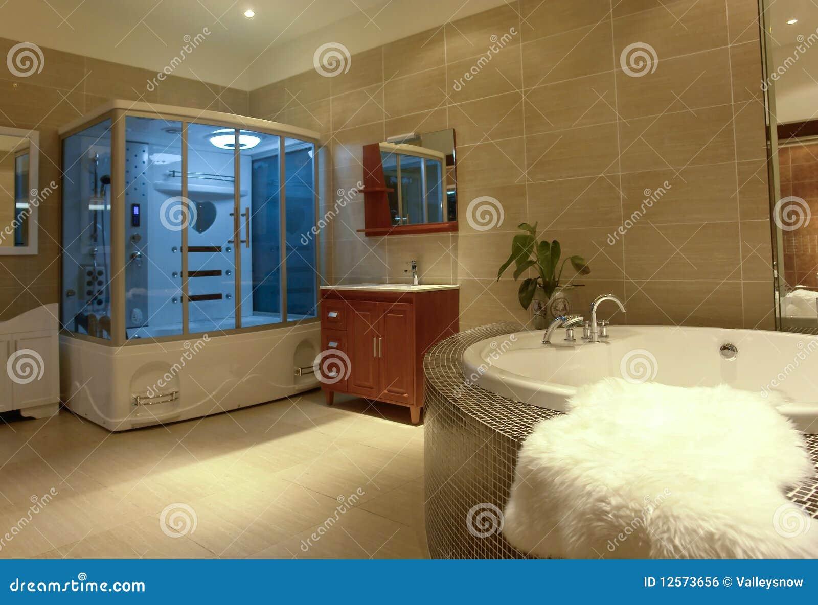 Stanza da bagno di lusso fotografia stock immagine di armadietto 12573656 - Asciugamani bagno di lusso ...