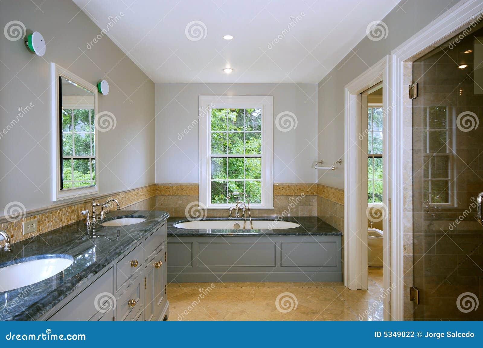 Sala Da Bagno Lusso : Stanza da bagno di lusso fotografia stock immagine di modello