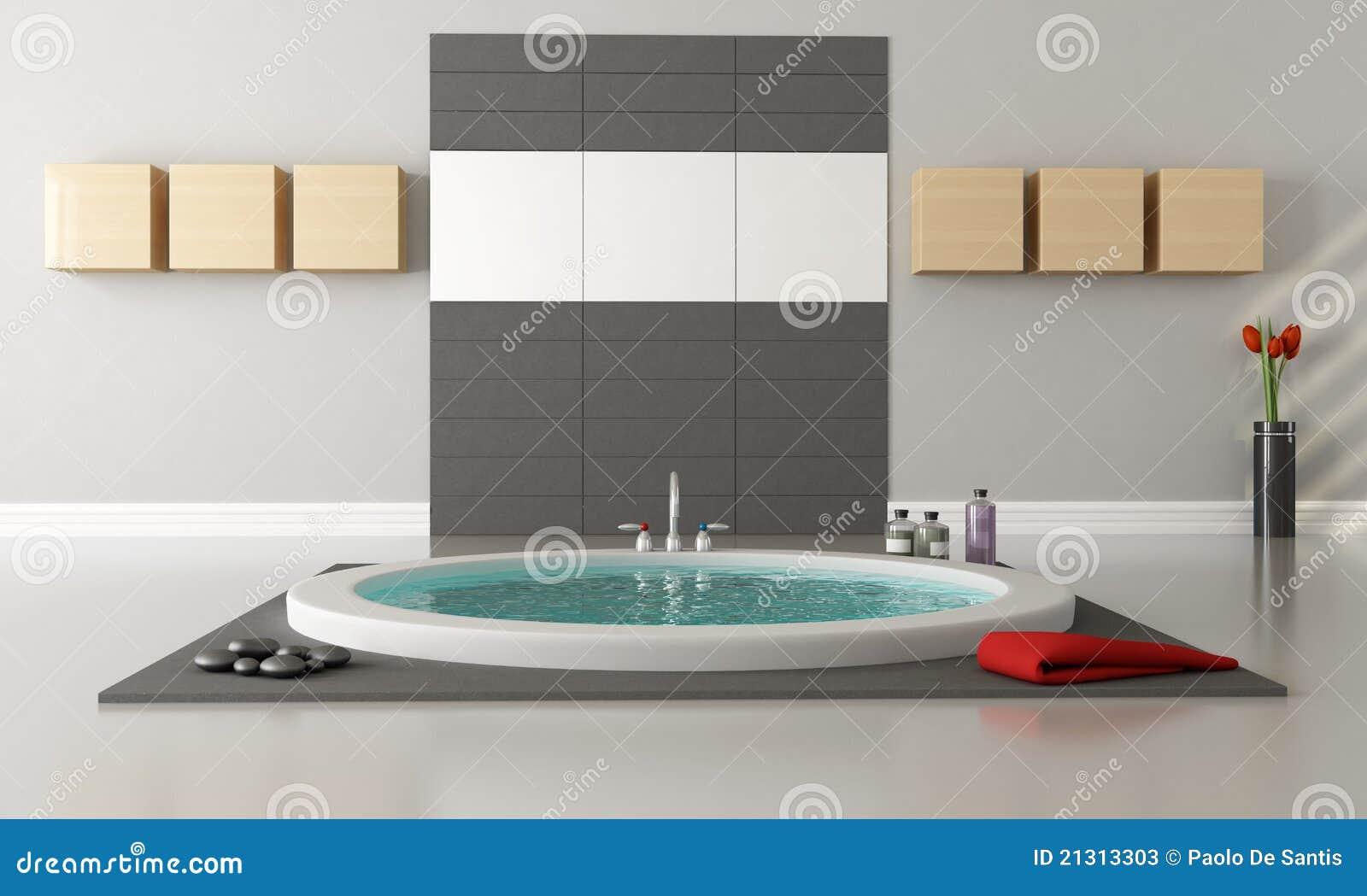 Stanza da bagno di lusso minimalista illustrazione di for Stanza da bagno