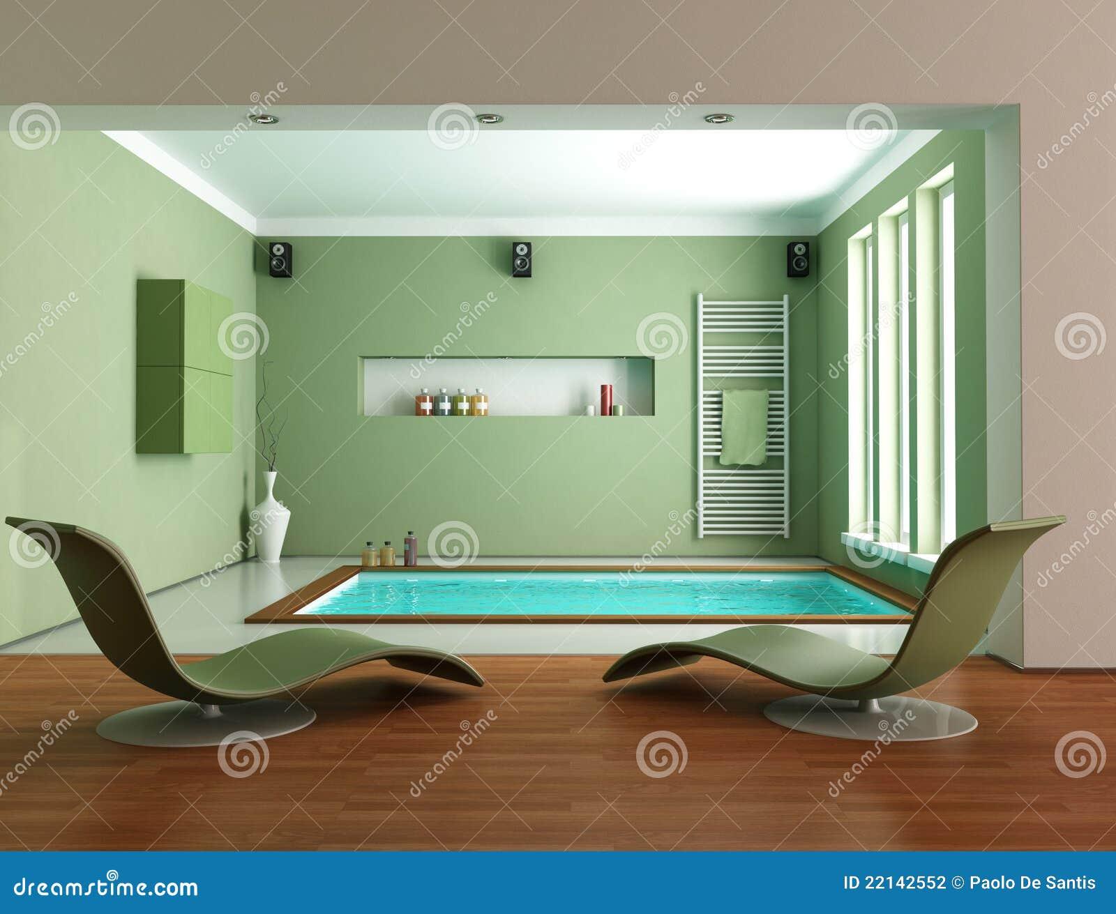 Stanza da bagno di lusso minimalista verde fotografia - Stanza da bagno ...