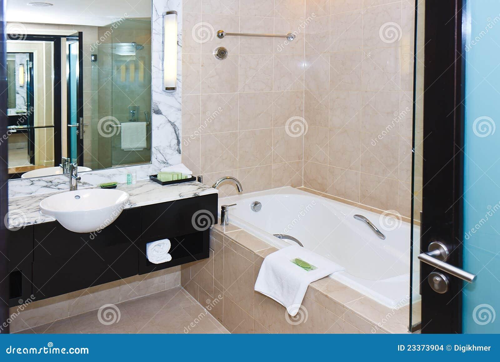 Stanza da bagno di marmo moderna immagini stock immagine - Stanza da bagno ...