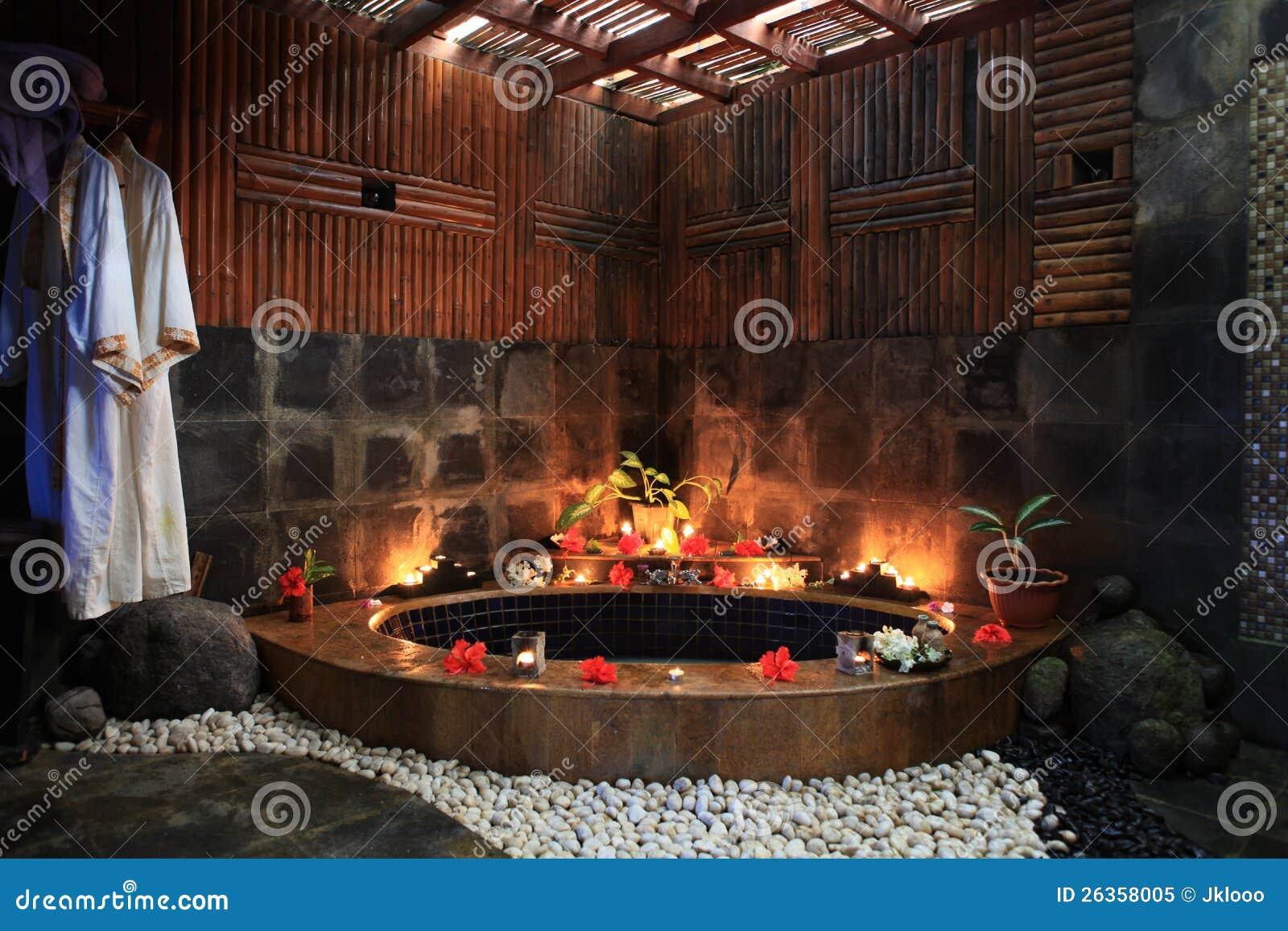Sala Da Bagno Pianta : Stanza da bagno di tropicale stile immagine stock immagine di