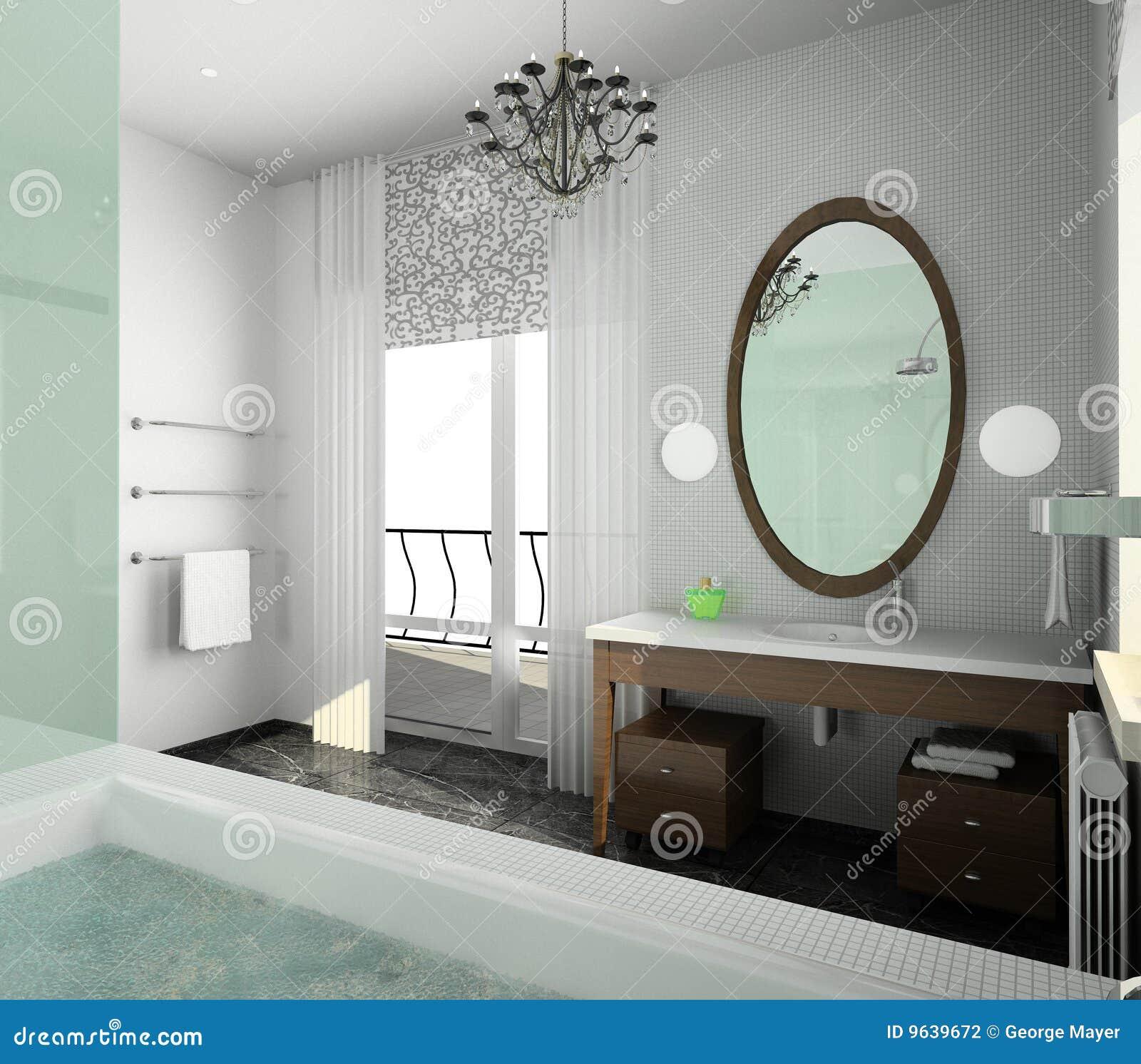 Stanza da bagno disegno moderno dell 39 interiore fotografia - Stanza da bagno ...