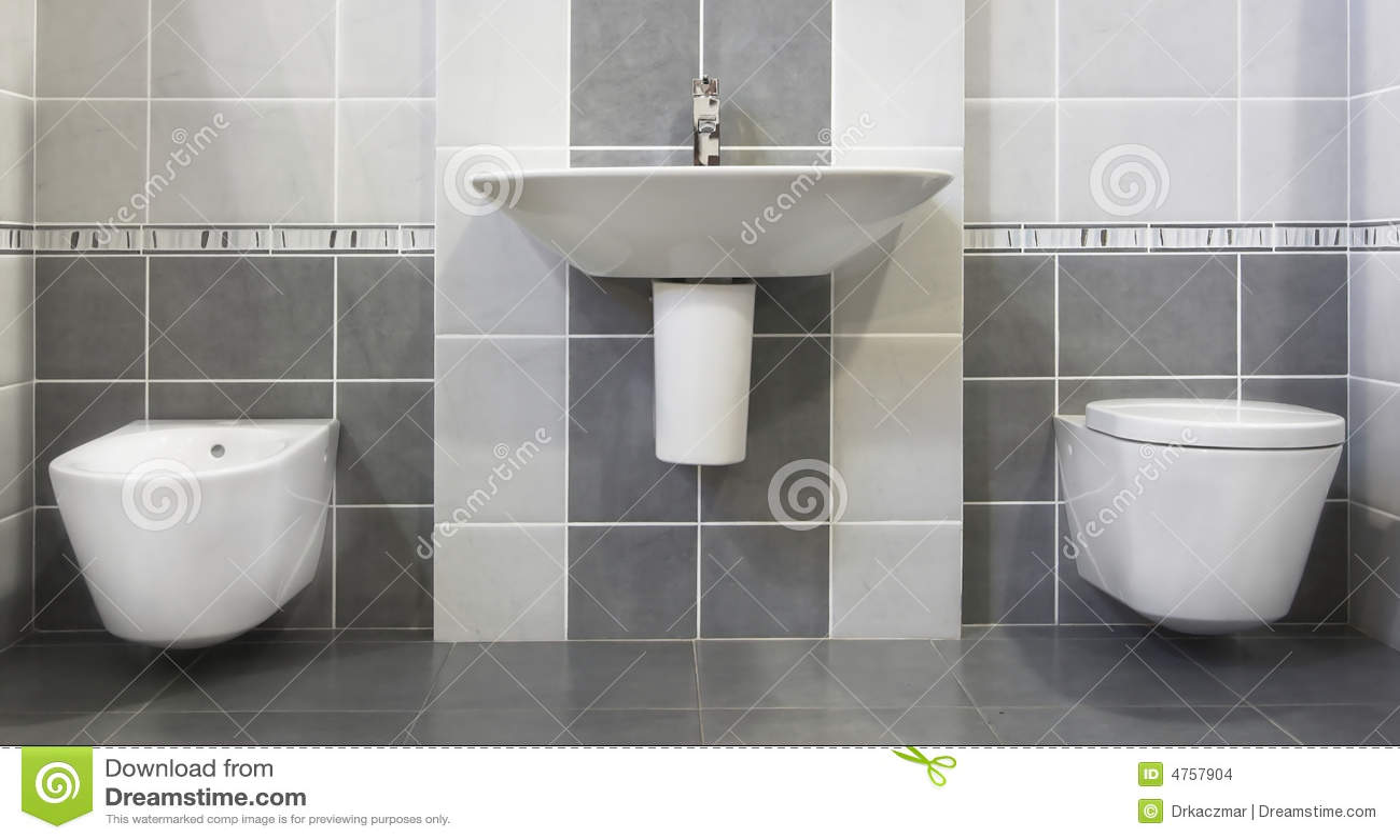 Stanza da bagno grigia moderna immagini stock immagine - Toilette da bagno ...