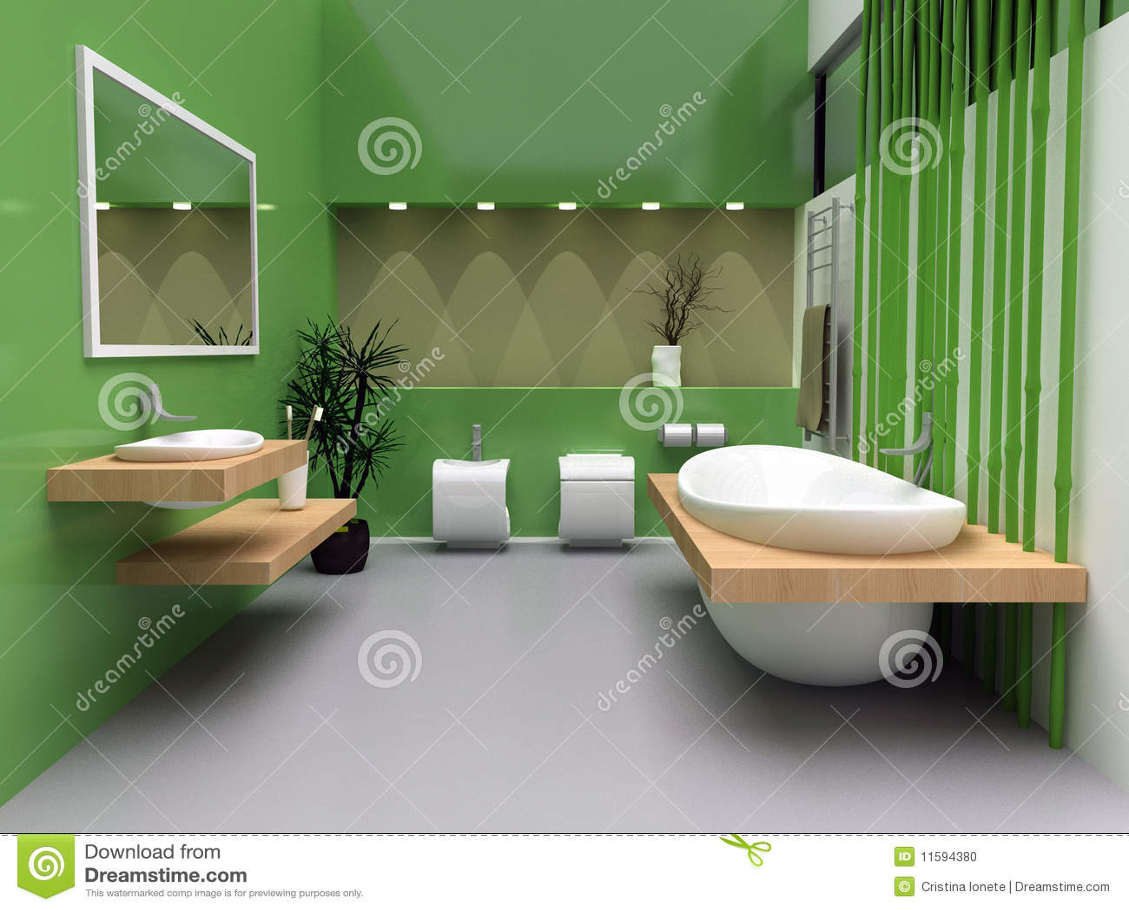 Sala Da Bagno Pianta : Stanza da bagno moderna illustrazione di stock illustrazione di