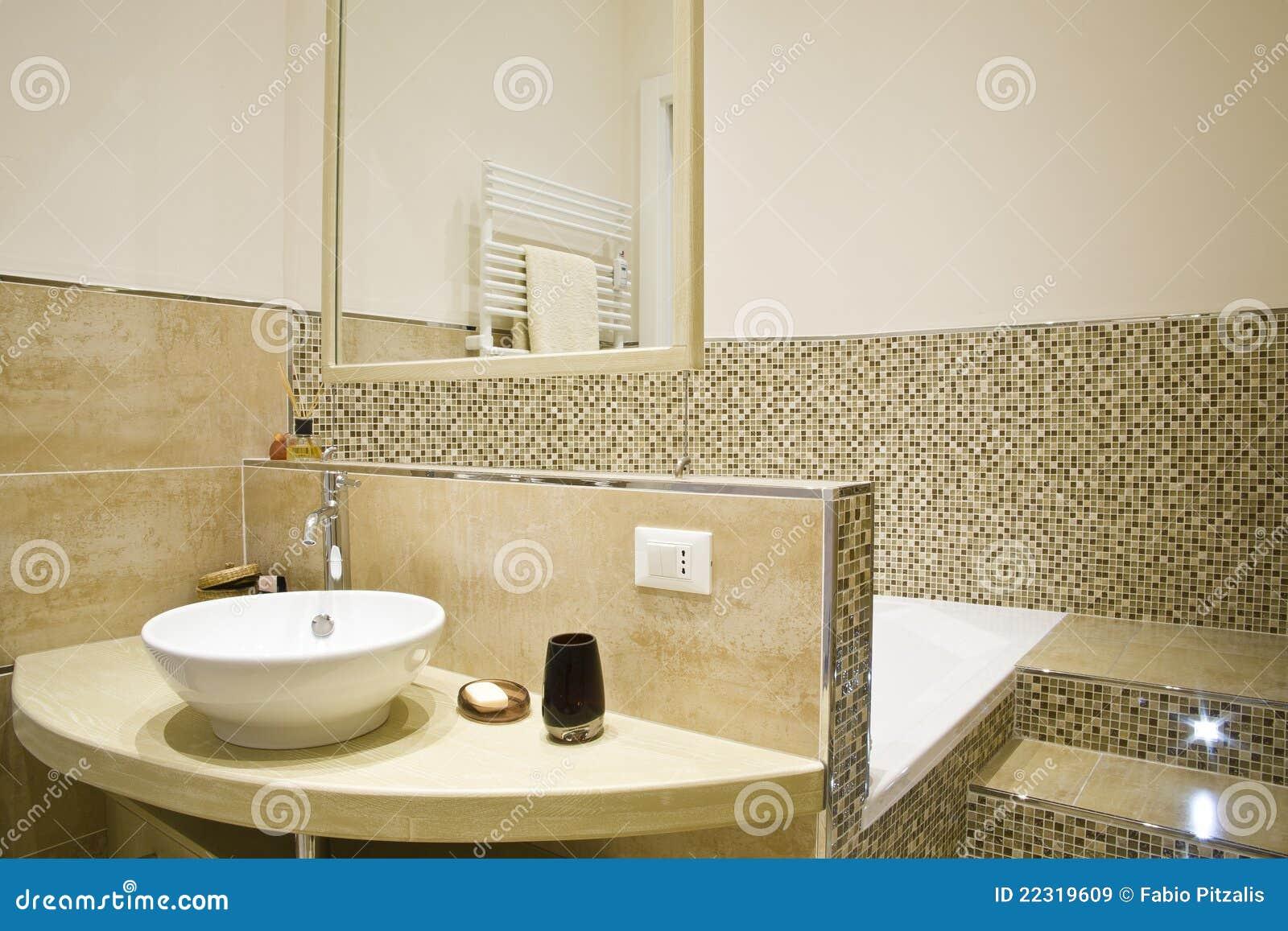 Stanza da bagno moderna immagine stock immagine di staffa 22319609 - Stanza da bagno ...