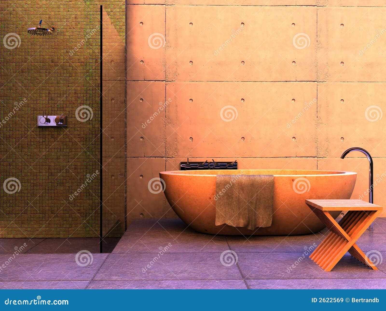 Stanza da bagno moderna immagine stock immagine di vetro for Stanza da pranzo moderna