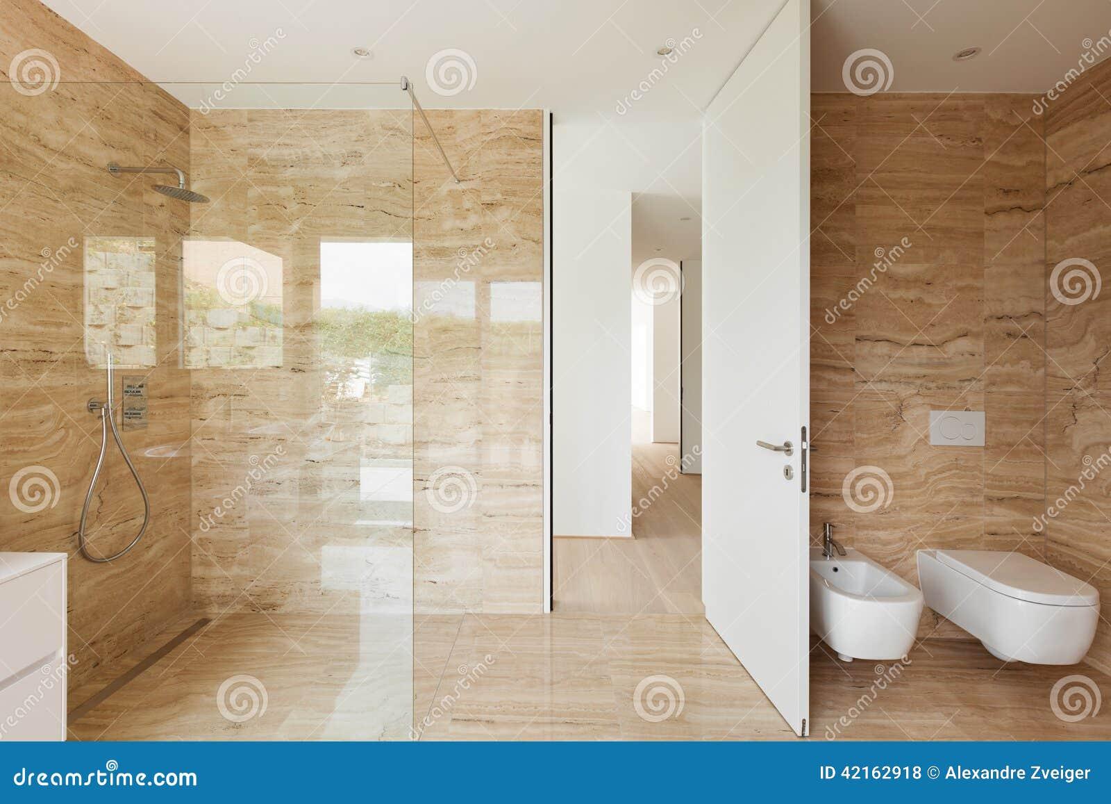 Sala Da Bagno Moderna : Stanza da bagno moderna fotografia stock. immagine di piano 42162918