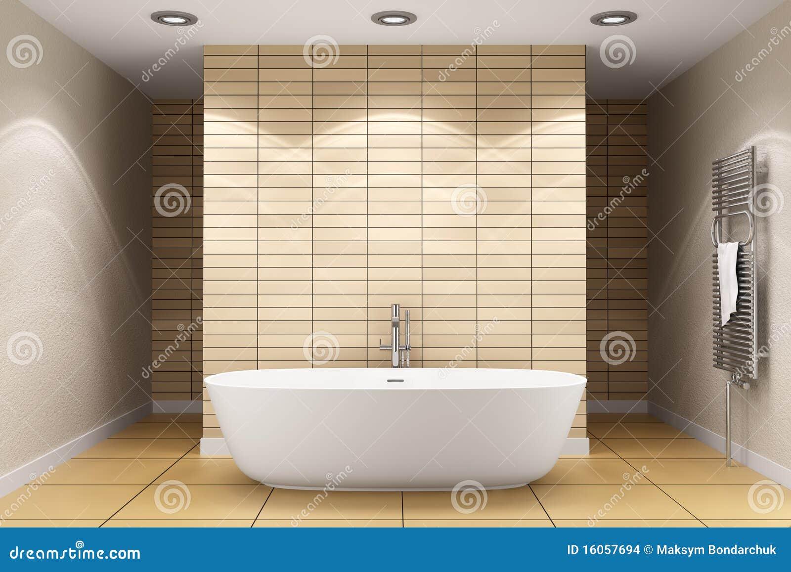 Stanza da bagno moderna con le mattonelle beige sulla parete fotografia stock immagine di - Mattonelle bagno moderne ...