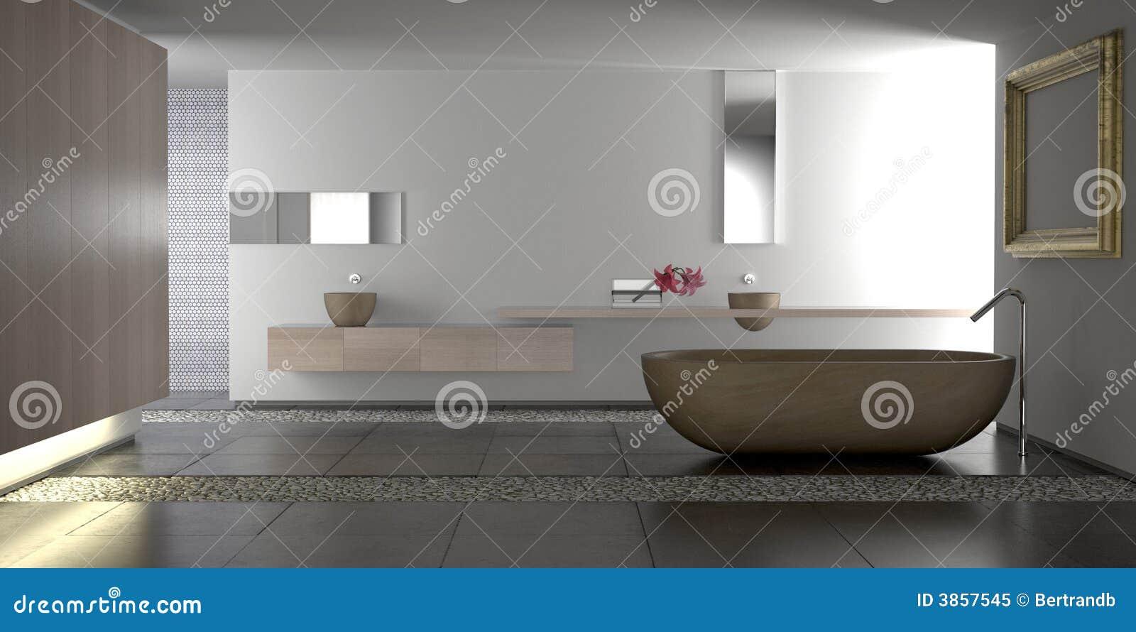 Stanza da bagno moderna di lusso illustrazione di stock - Accessori da bagno di lusso ...