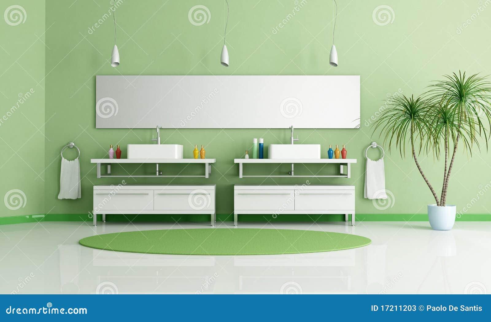 Stanza da bagno verde fotografie stock immagine 17211203 - Stanze da bagno moderne ...