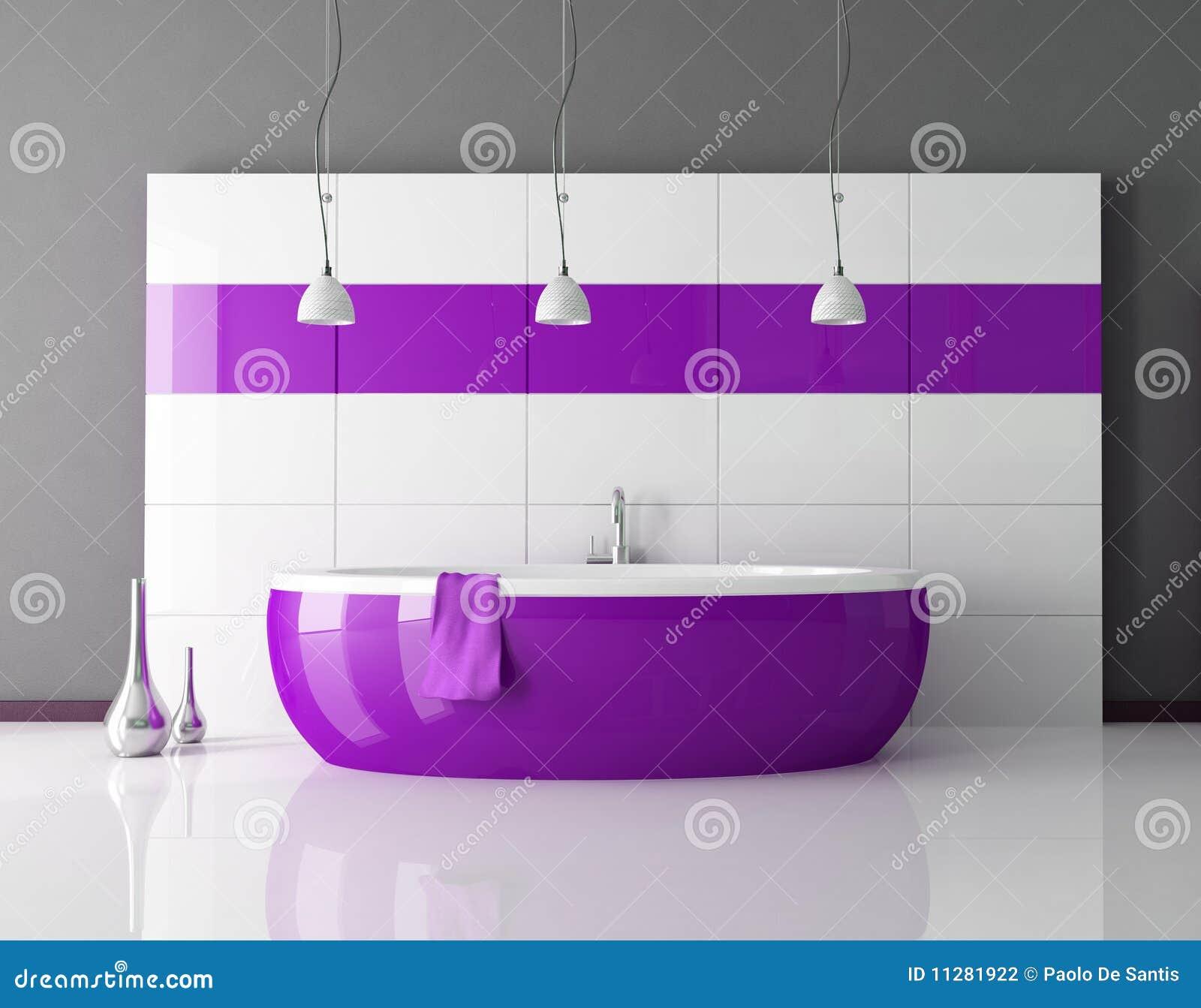 Stanza da bagno viola illustrazione di stock for Stanza da bagno