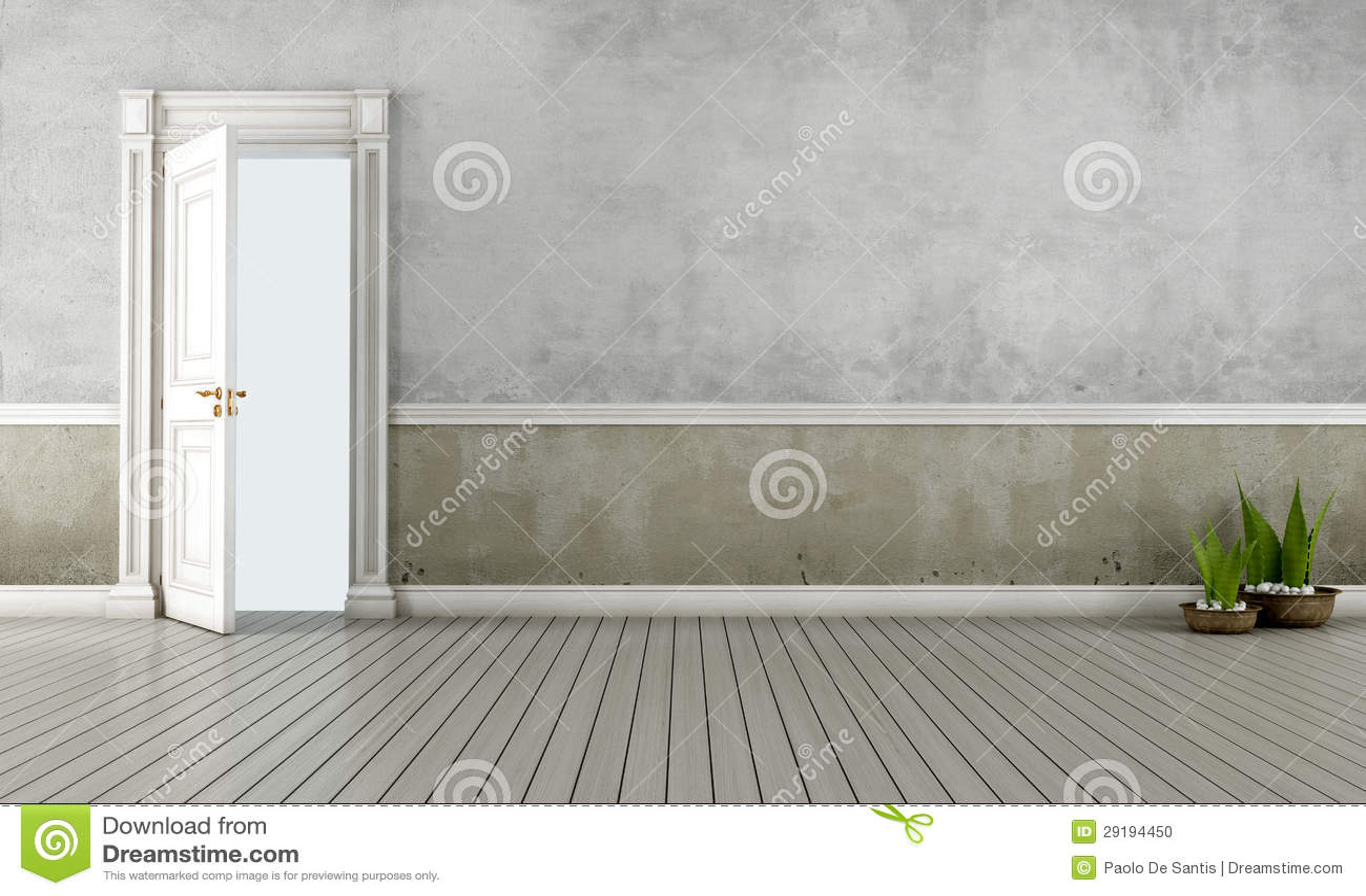 Stanza dell annata con la porta aperta