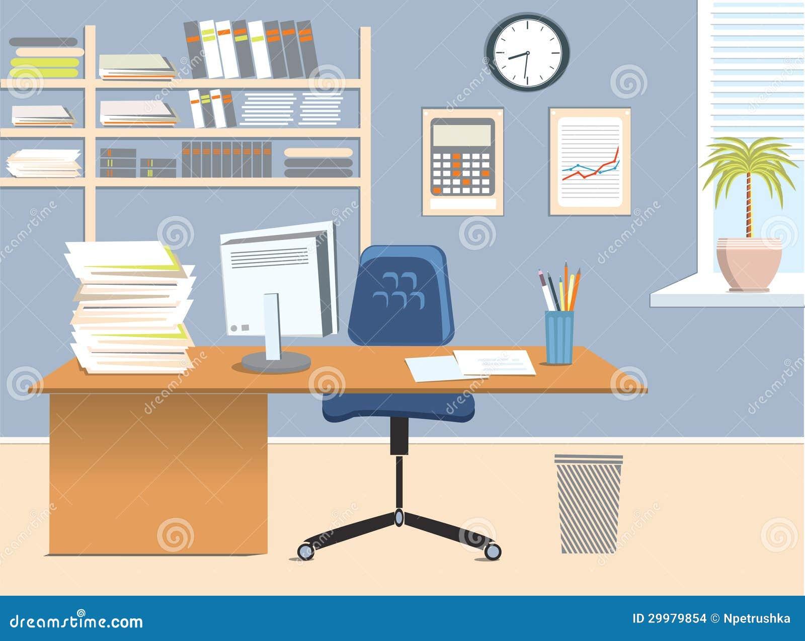 Stanza dell 39 ufficio illustrazione vettoriale for Stanza uso ufficio