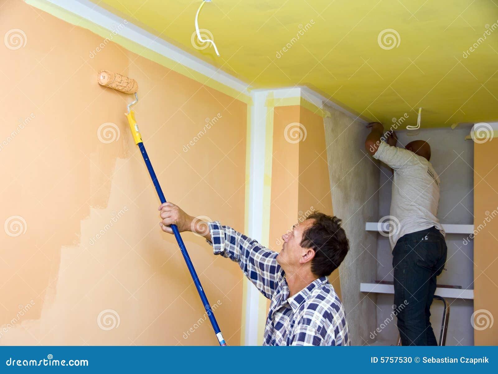 Stanza della pittura della squadra di rinnovamento