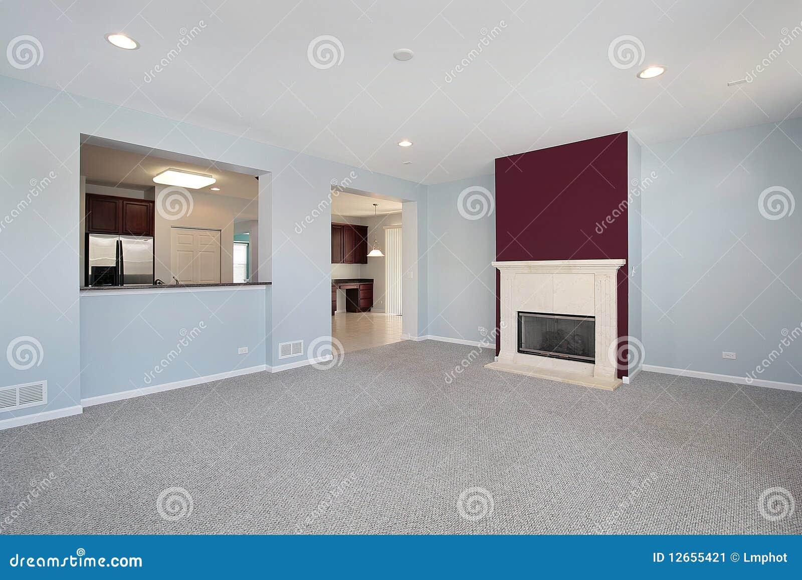 Stanza di famiglia nella casa della nuova costruzione for Casa di sei stanze