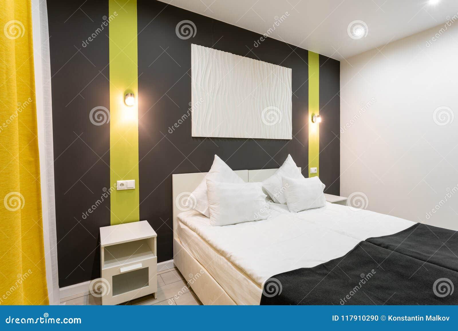 Stanza Di Norma Dell\'hotel Camera Da Letto Moderna Con I ...